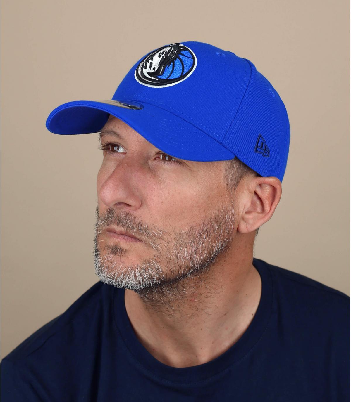 Yankees el capuchón curva azul