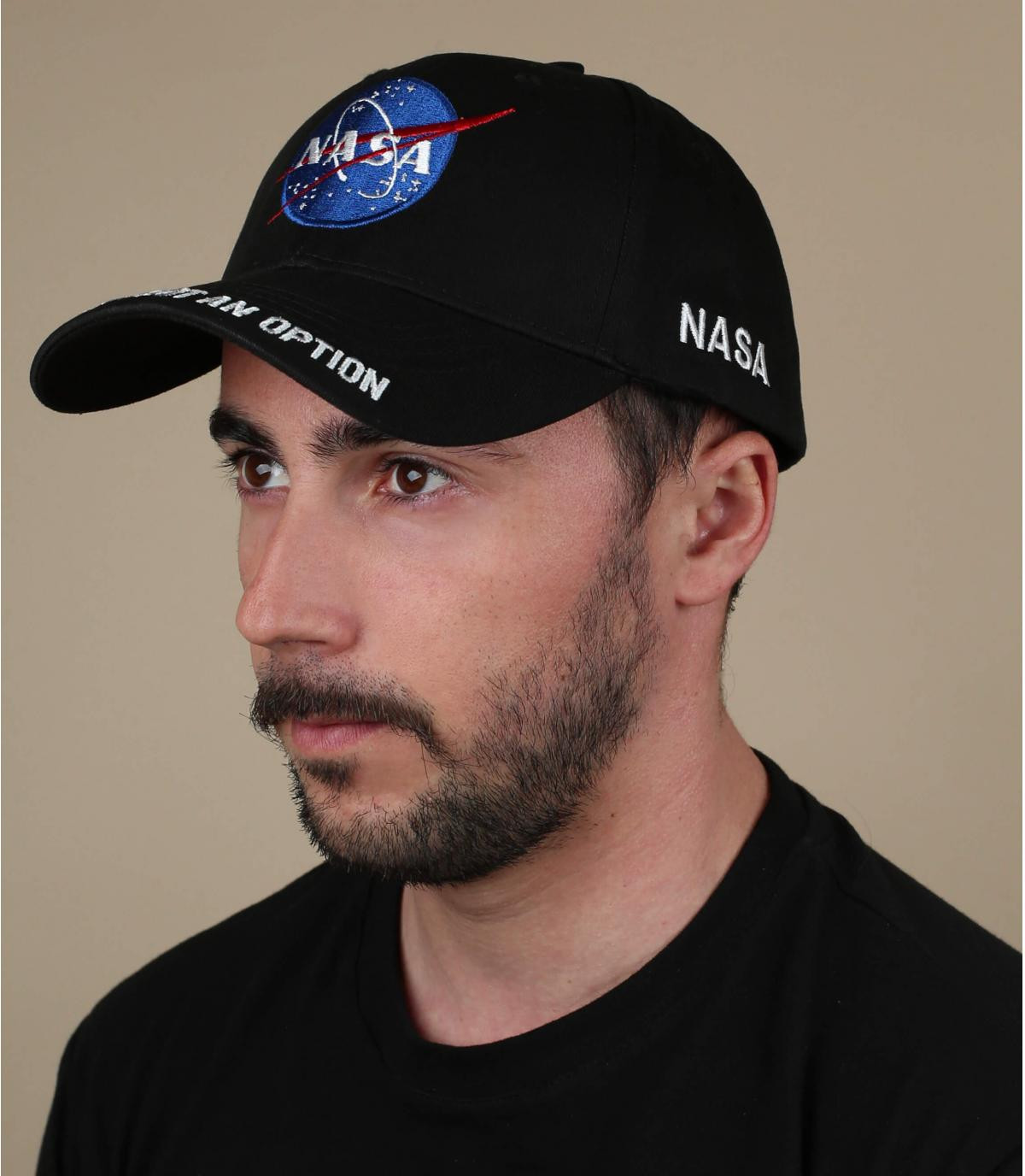 gorra NASA negro