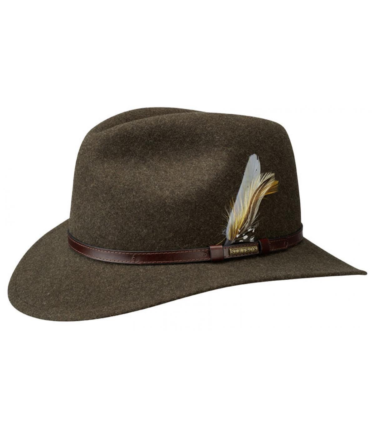 Sombrero feutre marrón Stetson