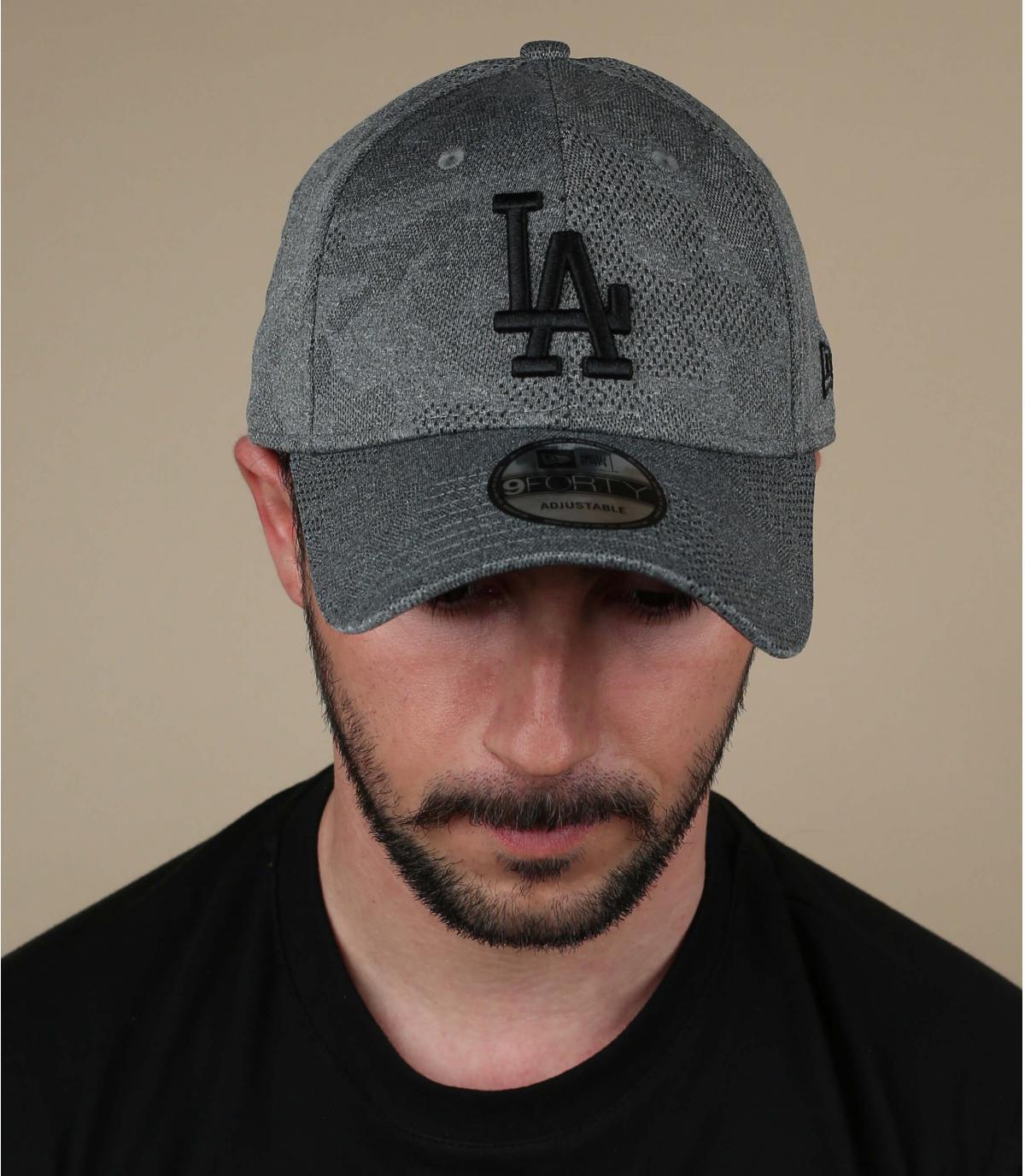 gorra LA gris