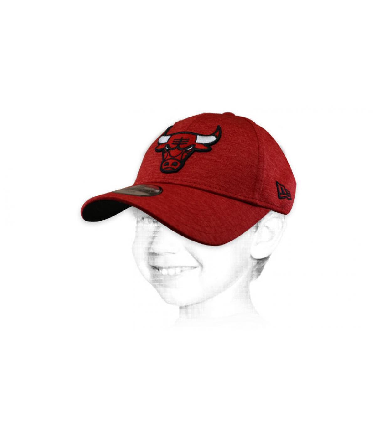 gorra infantil Bulls rojo