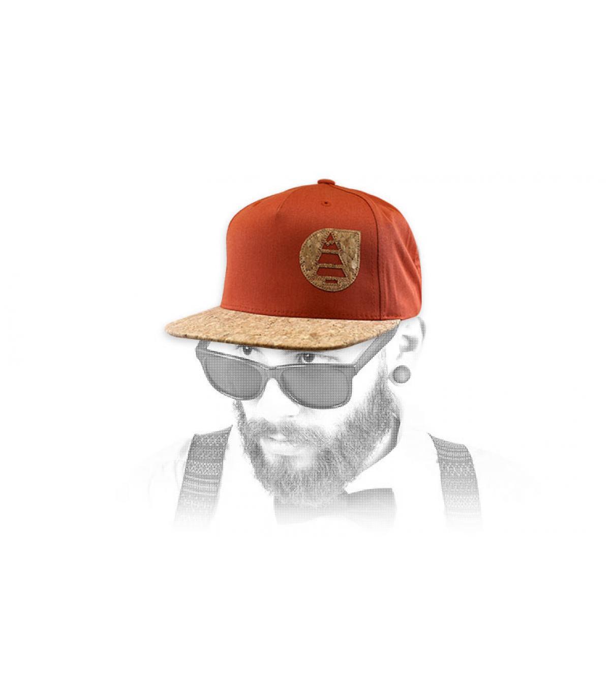 gorra Picture naranja corcho