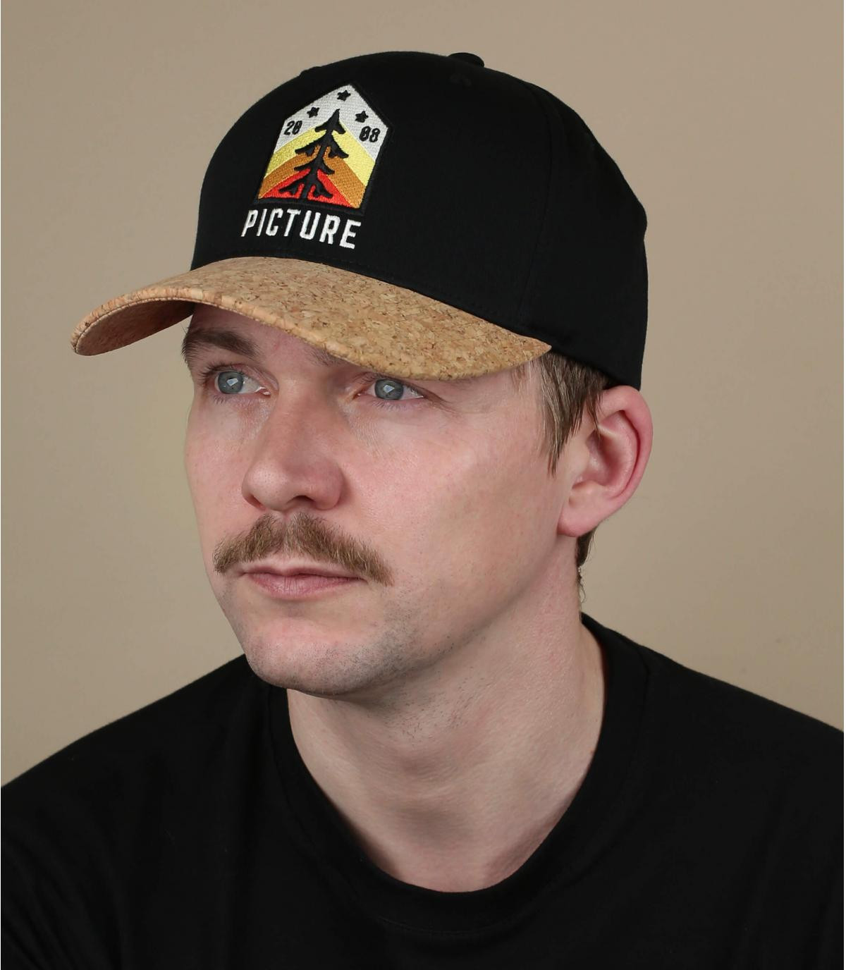 gorra Picture negro pino