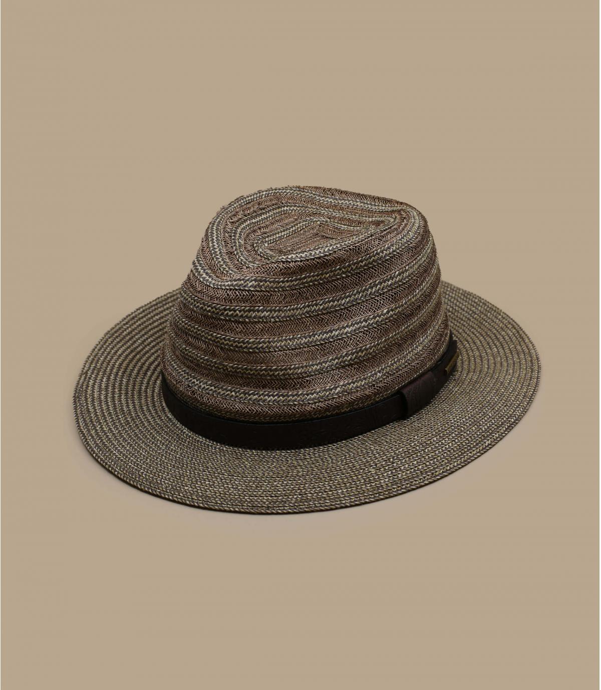 sombrero paja cinta cuero