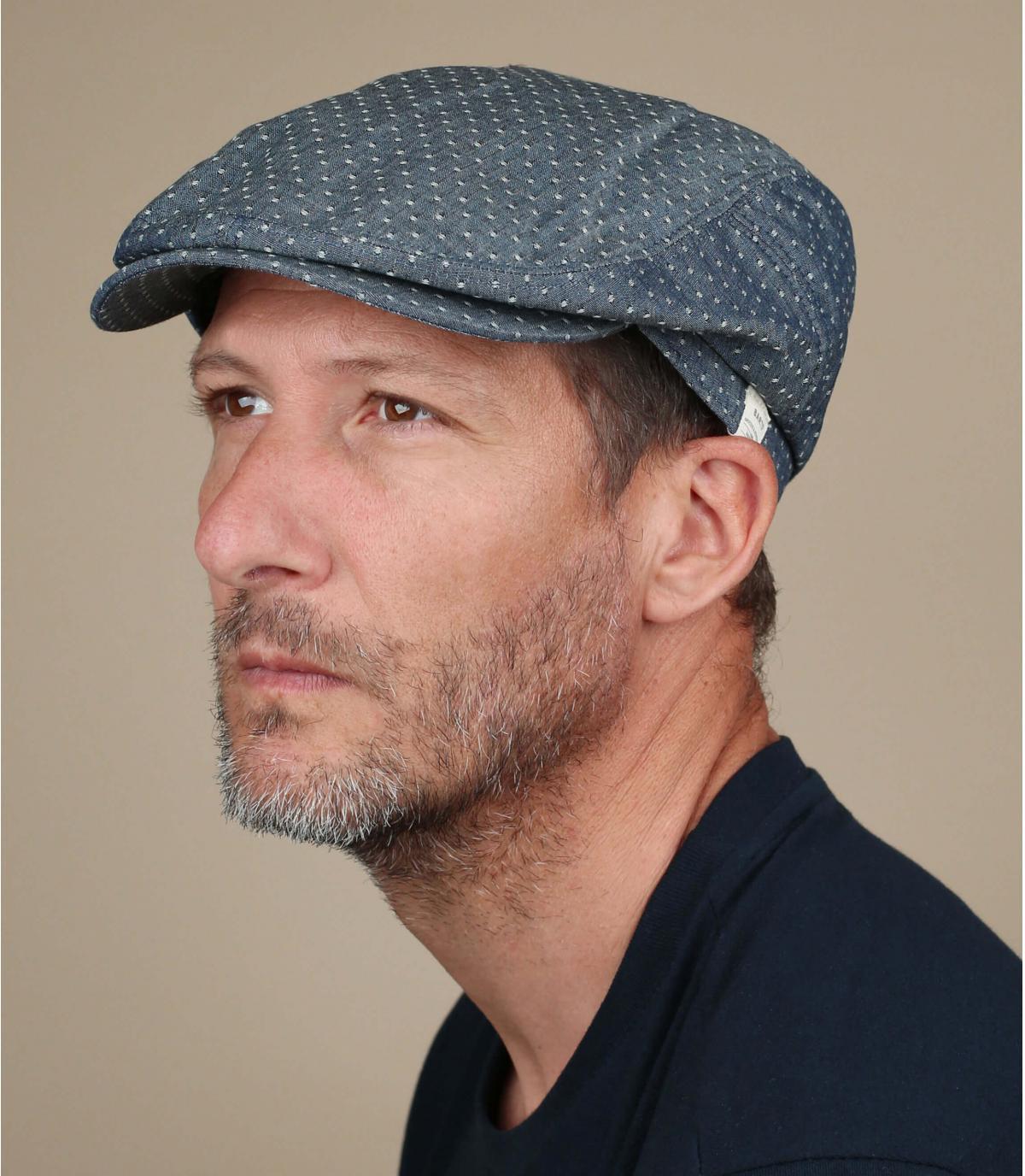 gorra denim algodón lino