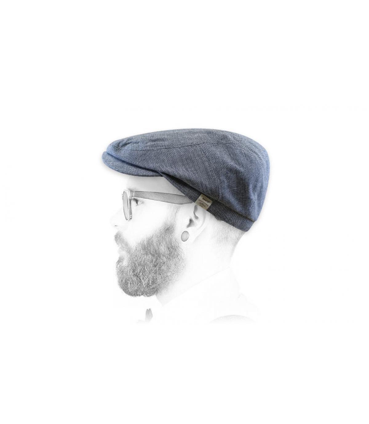 gorra azul algodón lino