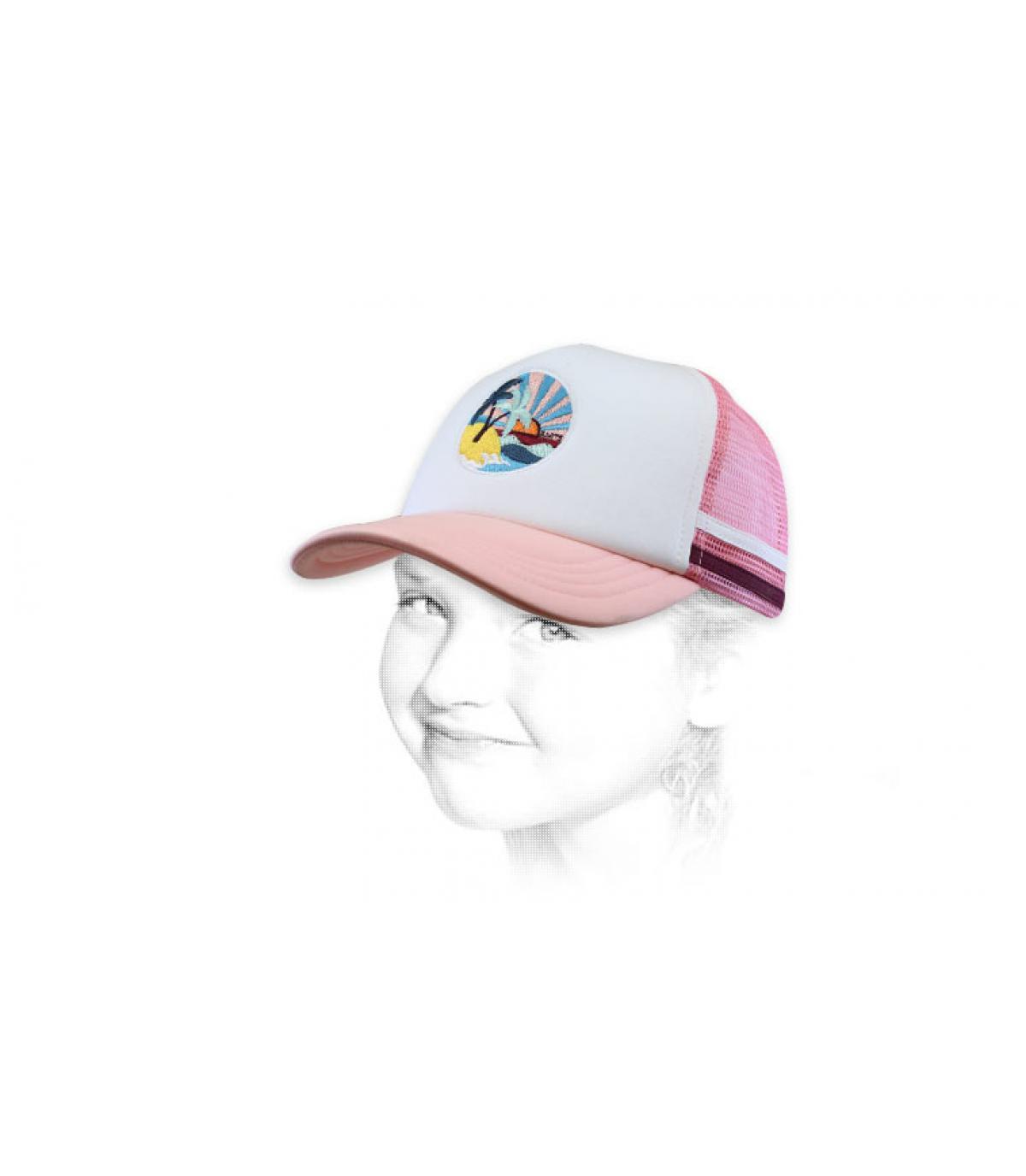 trucker infantil rosa palmera