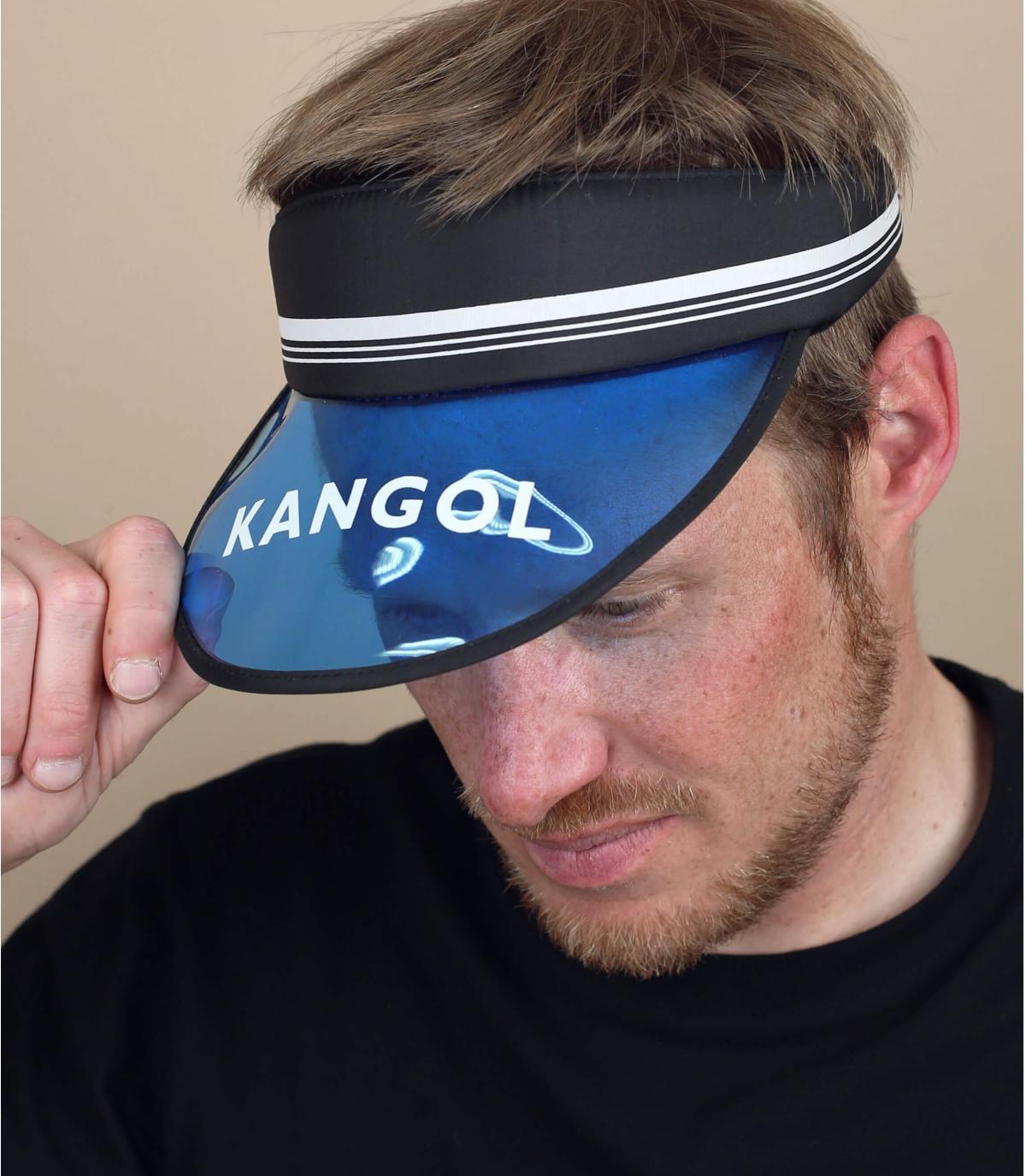 visera Kangol azul negro