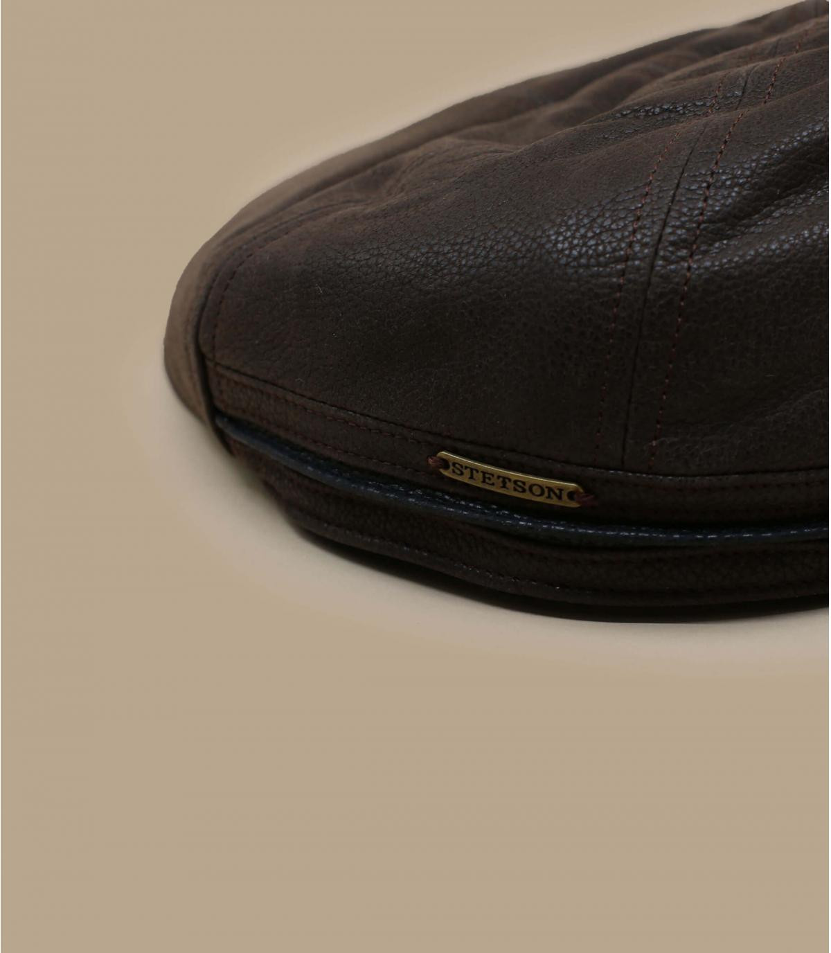 Gorra plate Stetson marrón
