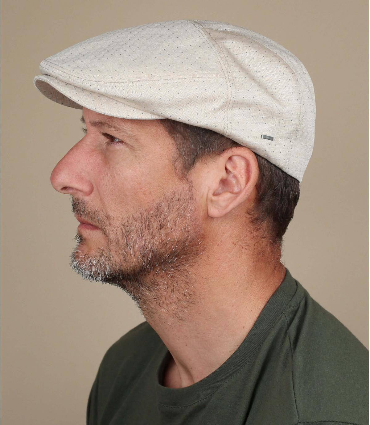 gorra jacquard algodón beis