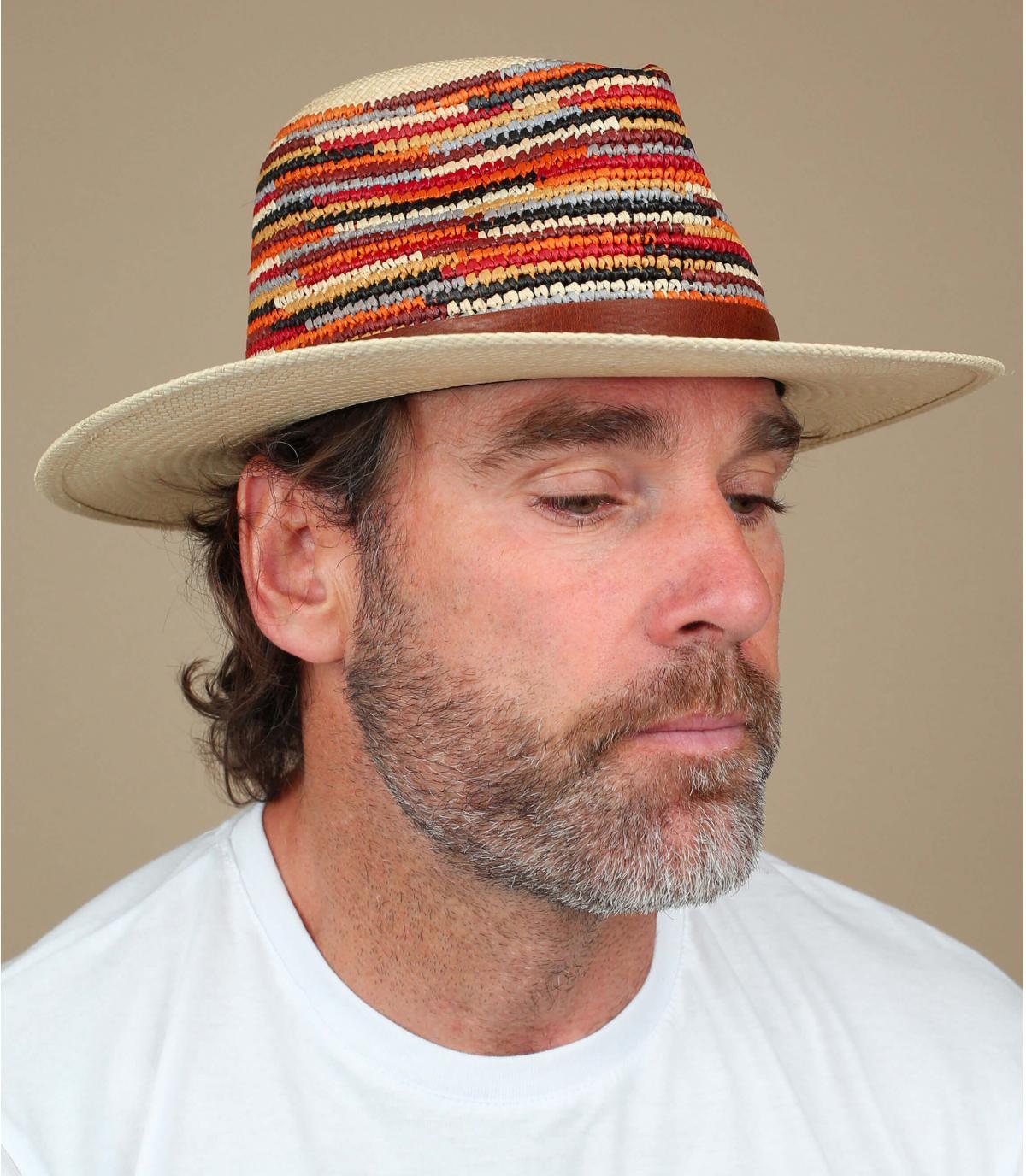 sombrero paja multicolor Bailey