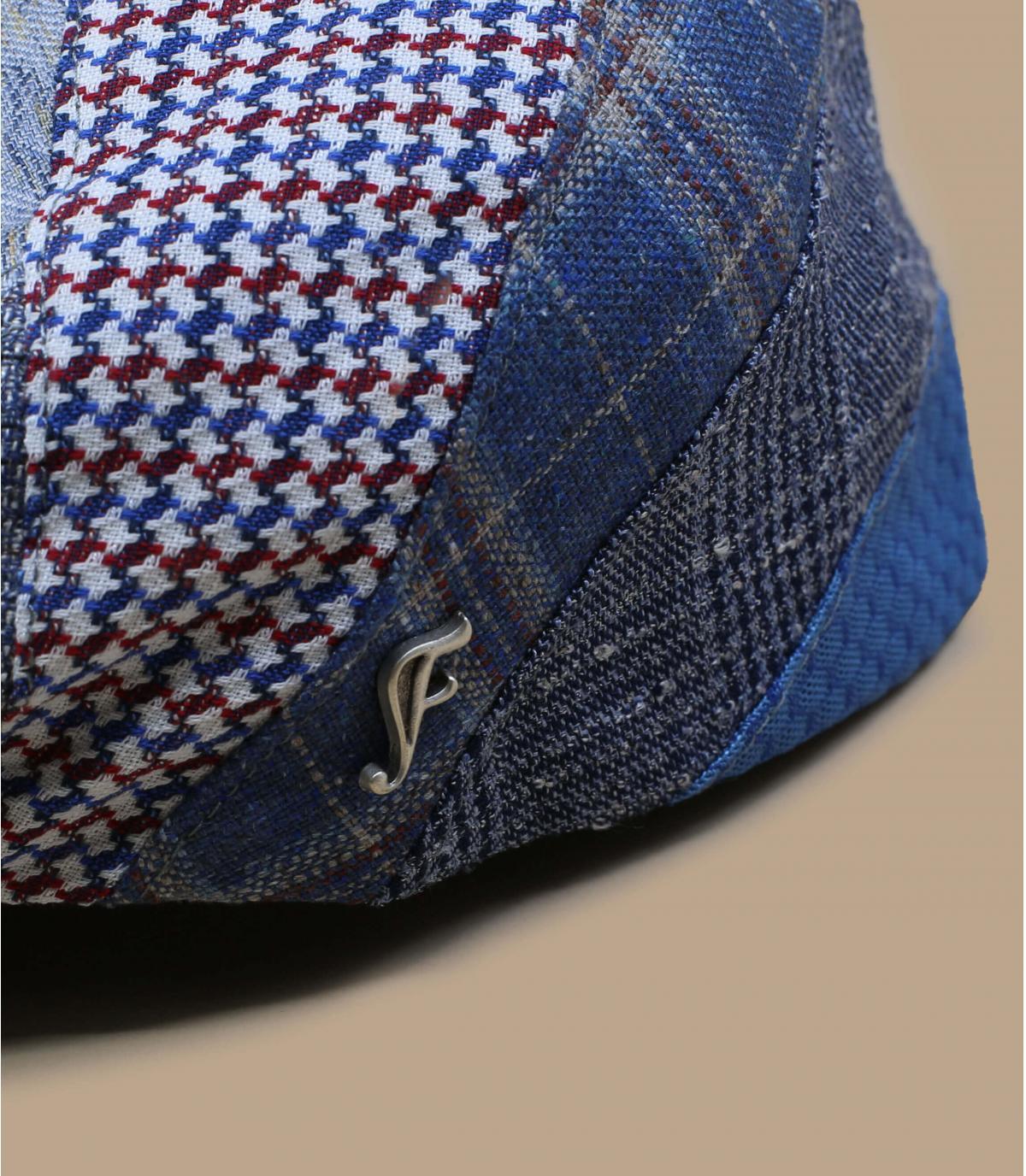gorra patchwork seda lino