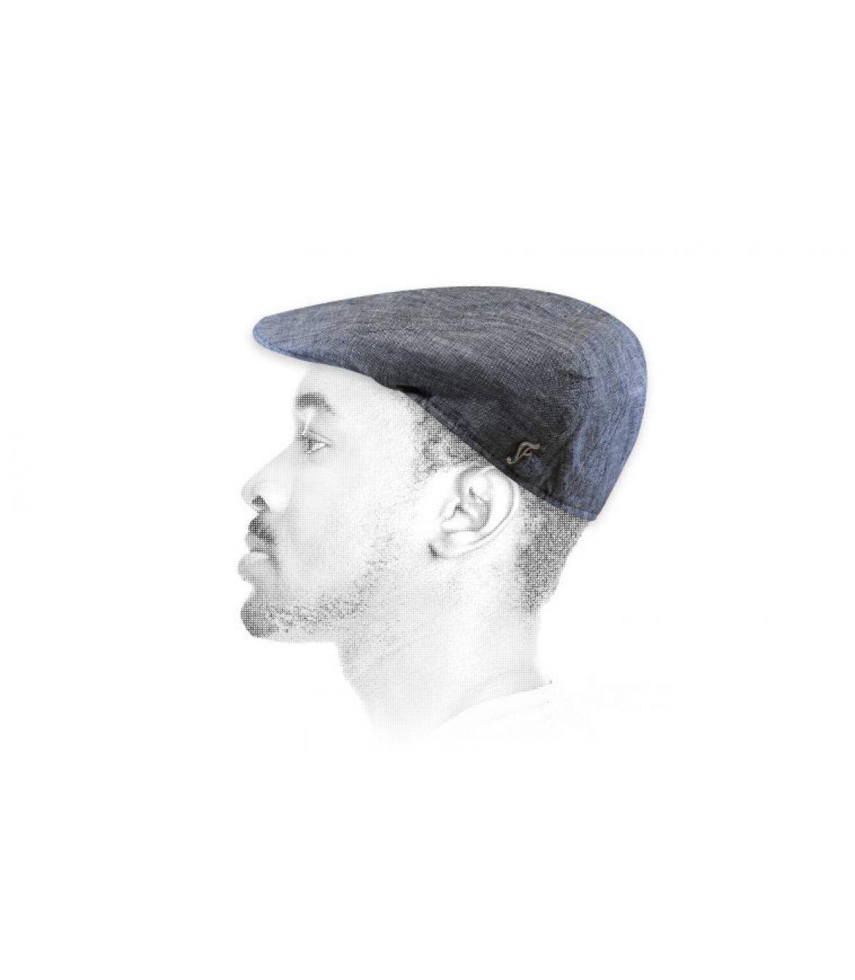 gorra gris lino ecologico