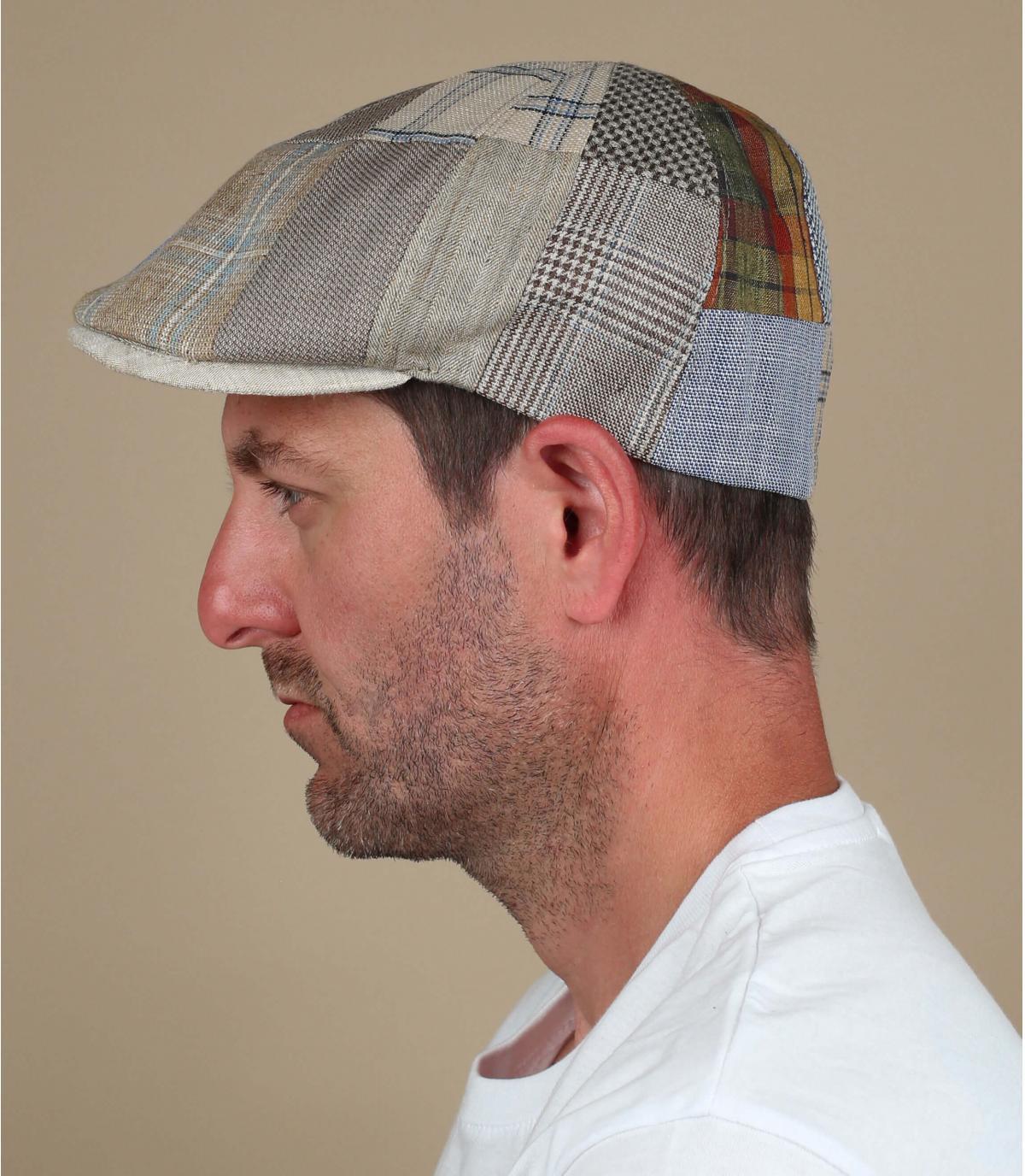gorra patchwork lino beis
