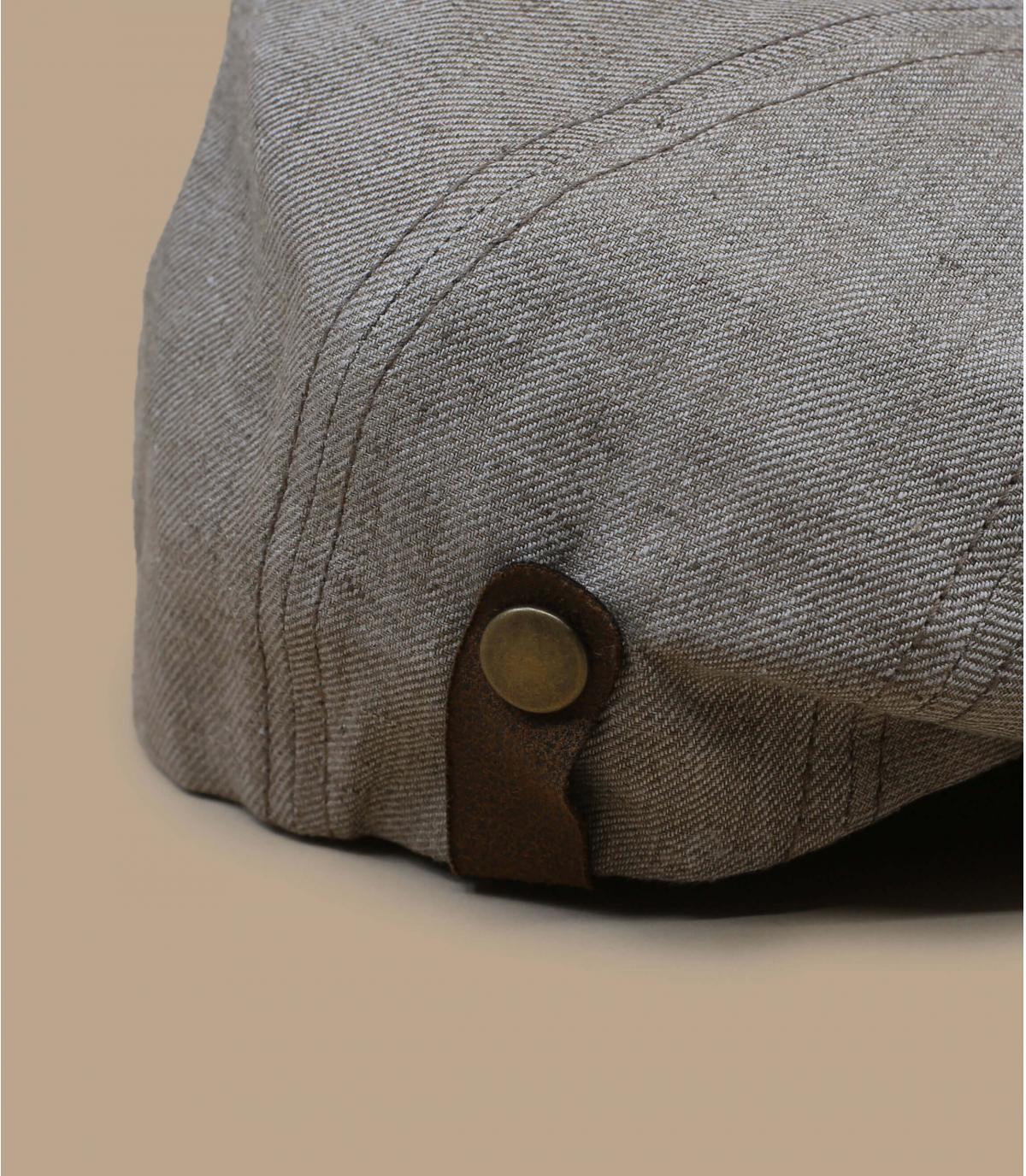 gorra beis visera marrón
