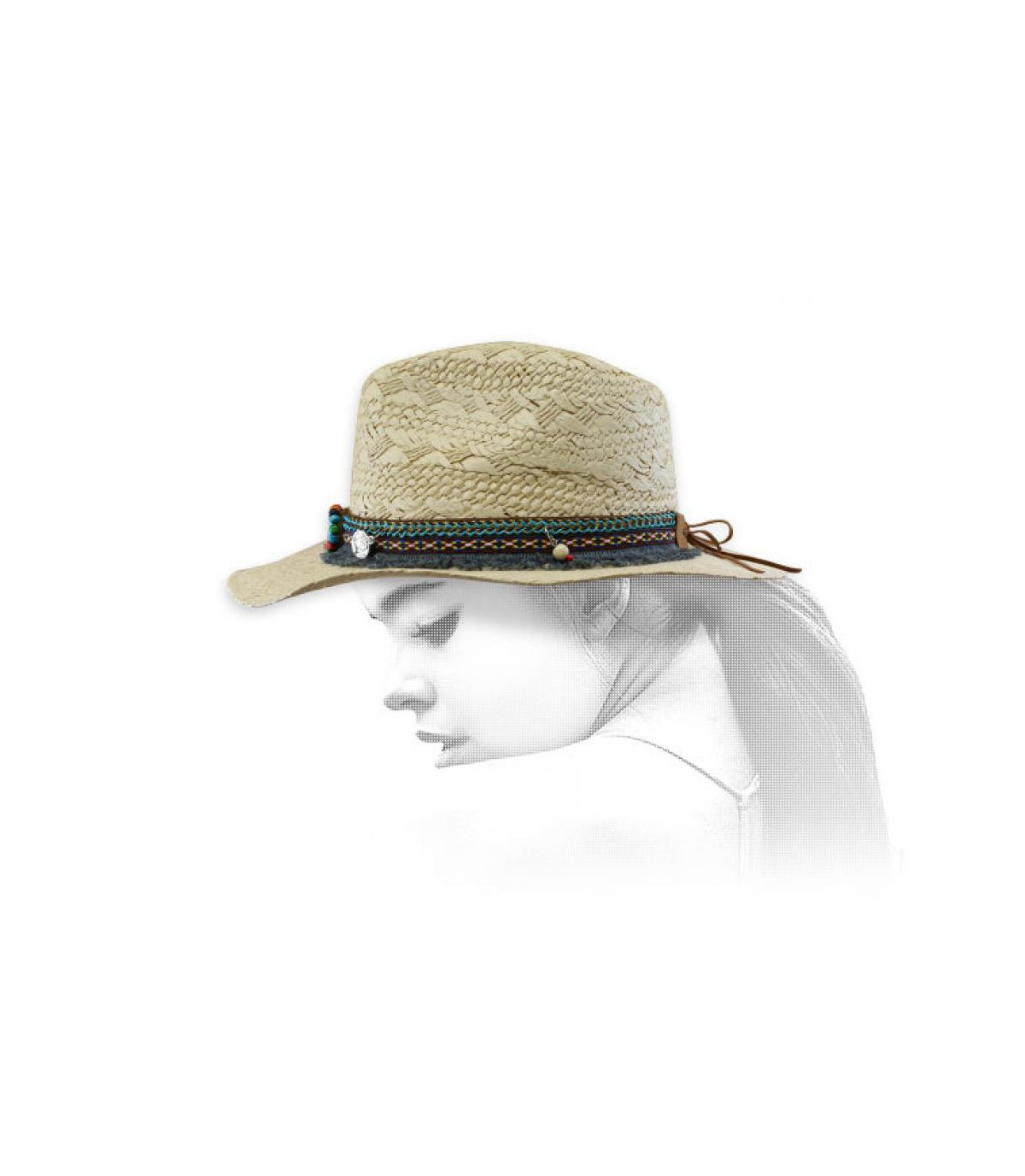 sombrero vaquero mujer paja