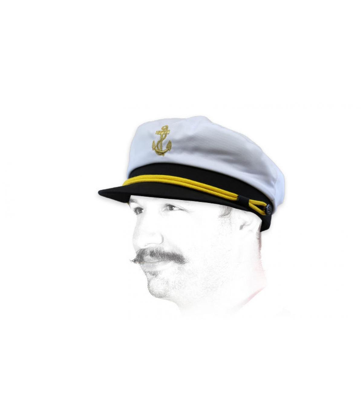 gorra marinero blanco