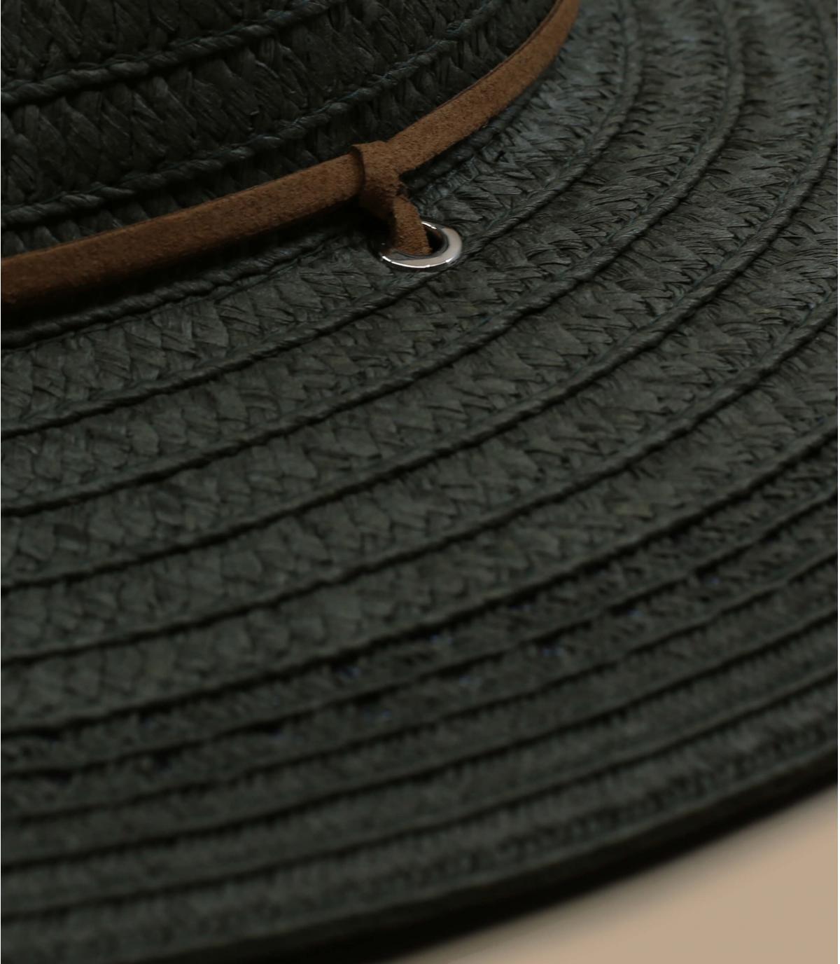 Detalles Fedora leather band khaki imagen 2