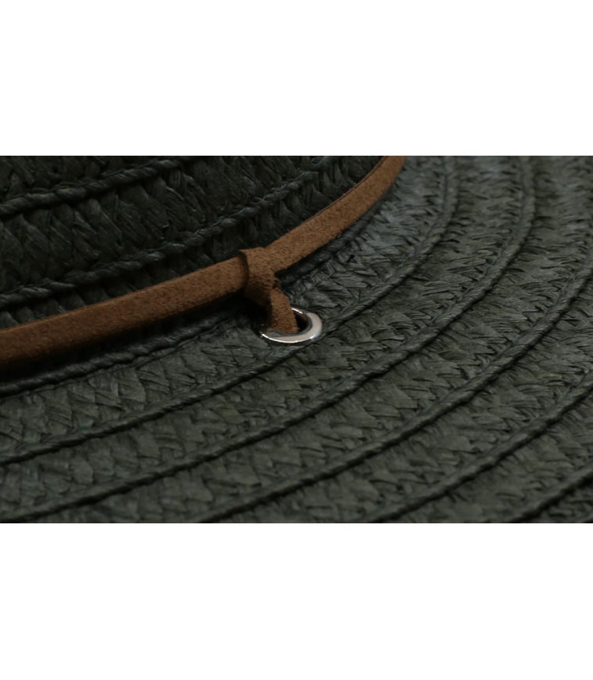 Detalles Fedora leather band khaki imagen 3