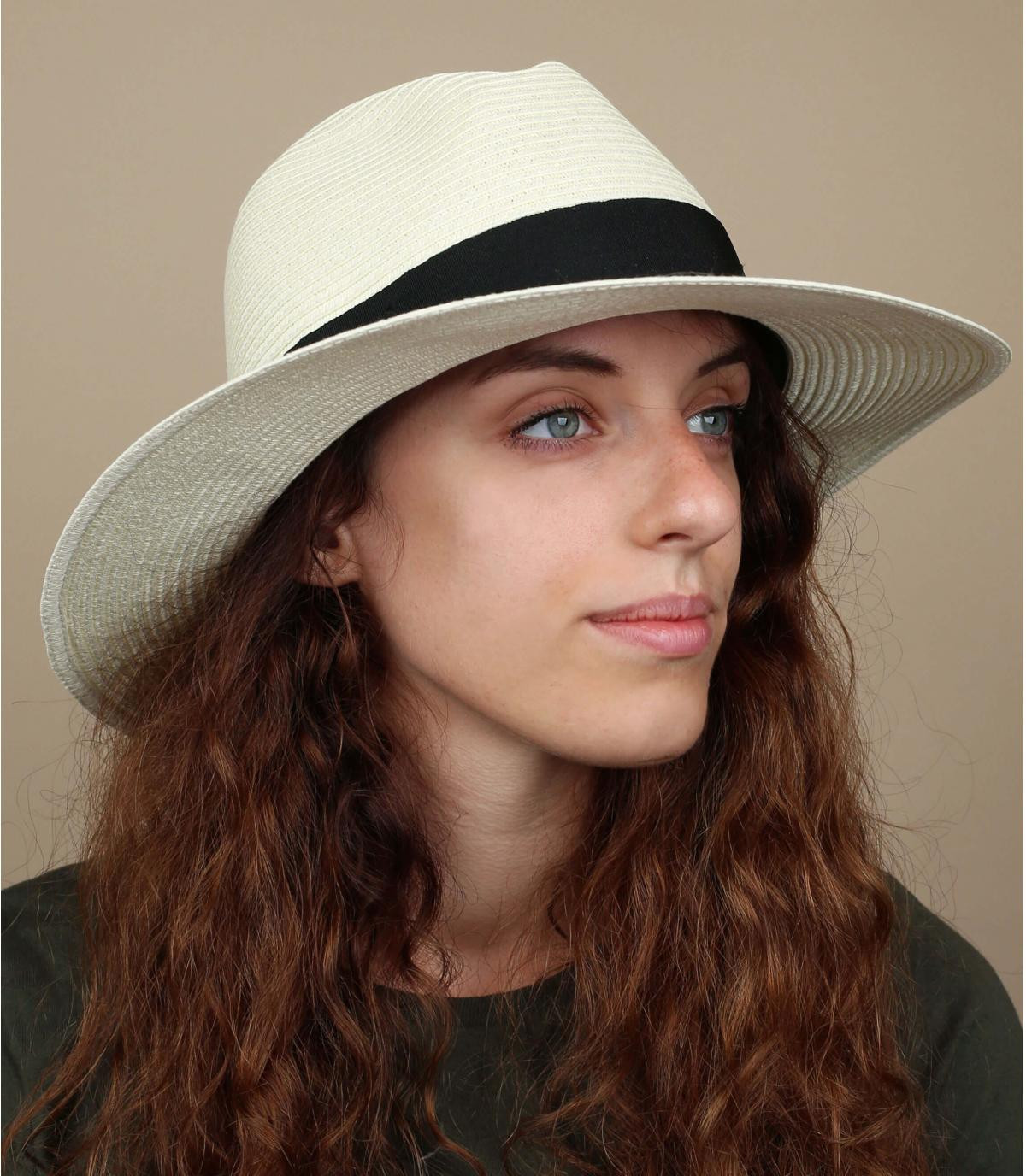 sombrero paja plumas