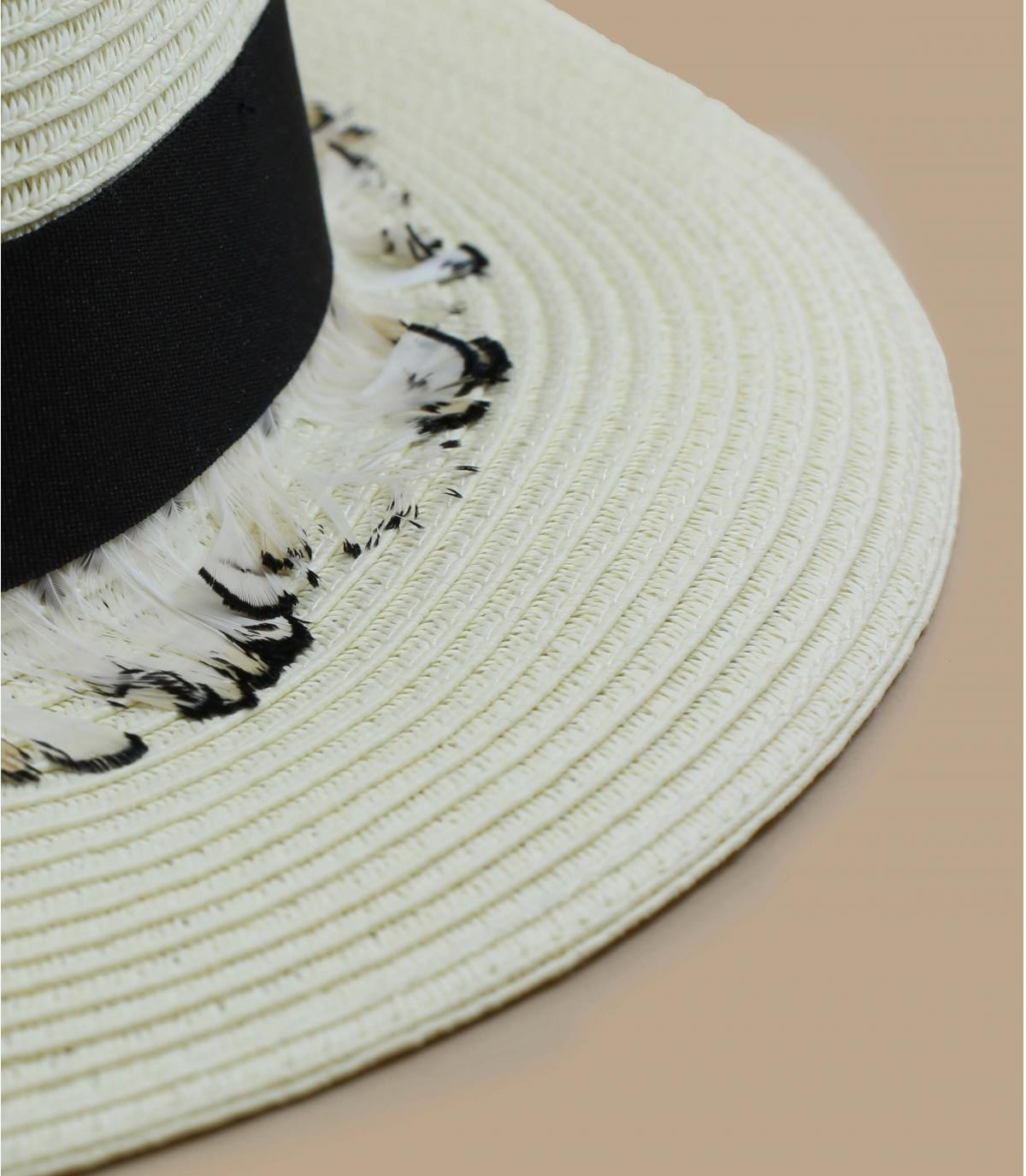 Detalles Fedora with feather trimming imagen 2