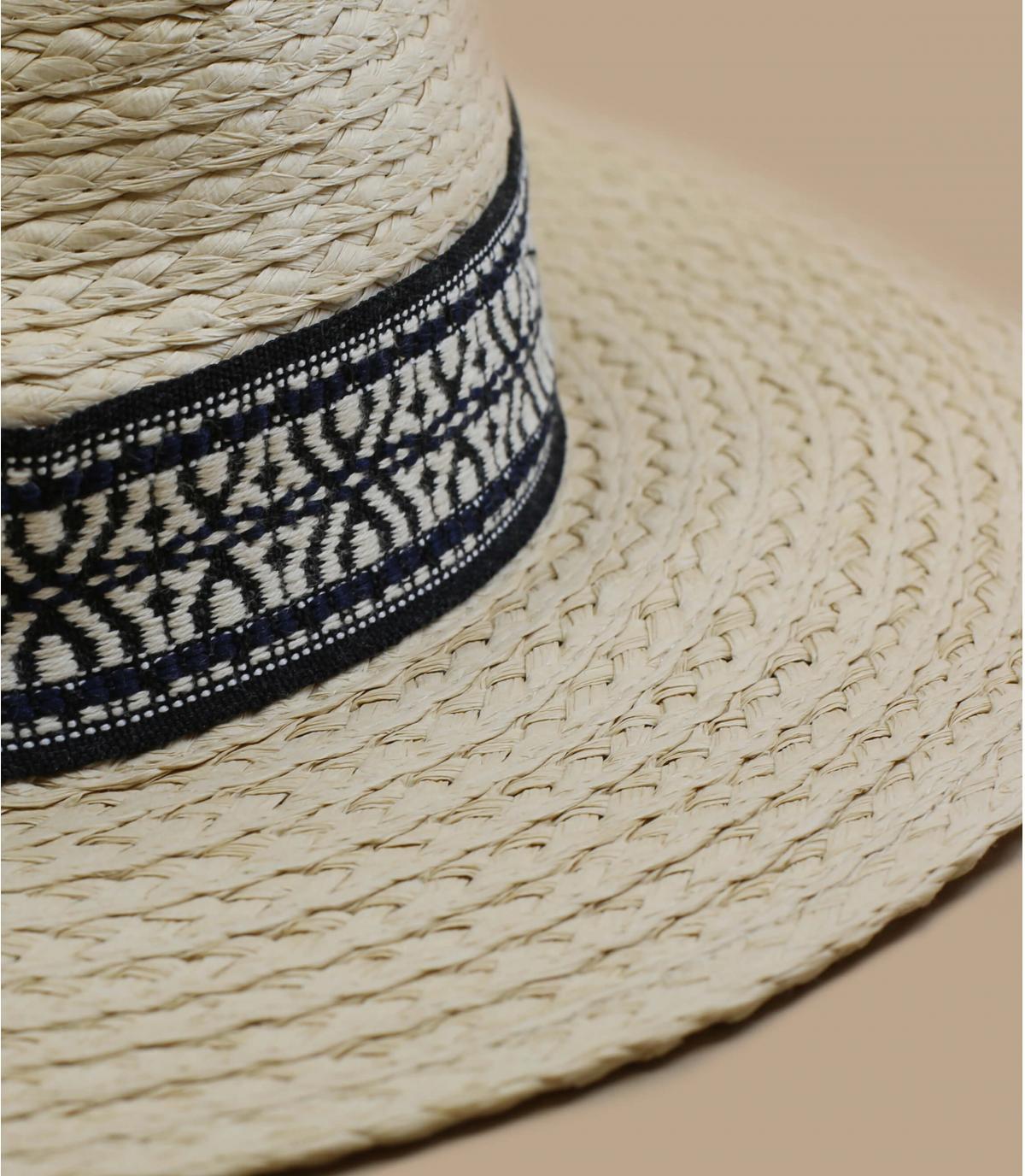 sombrero paja cinta geometrica