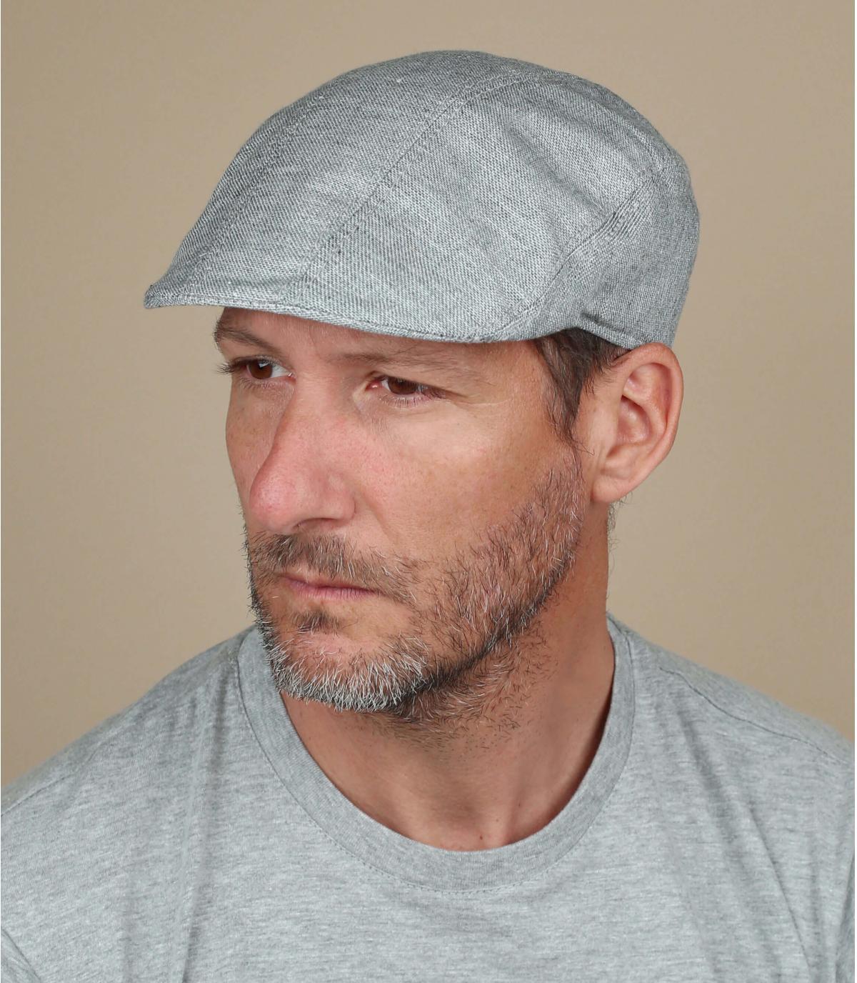 gorra algodón gris