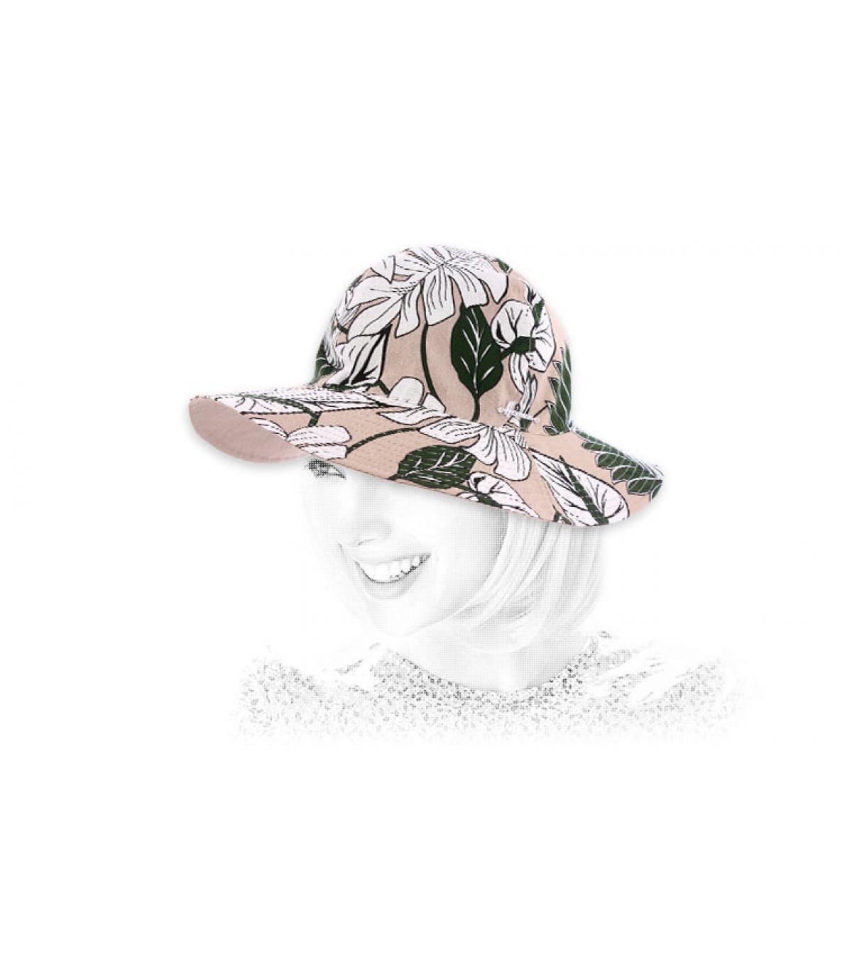 Sombrero algodón estampado flores