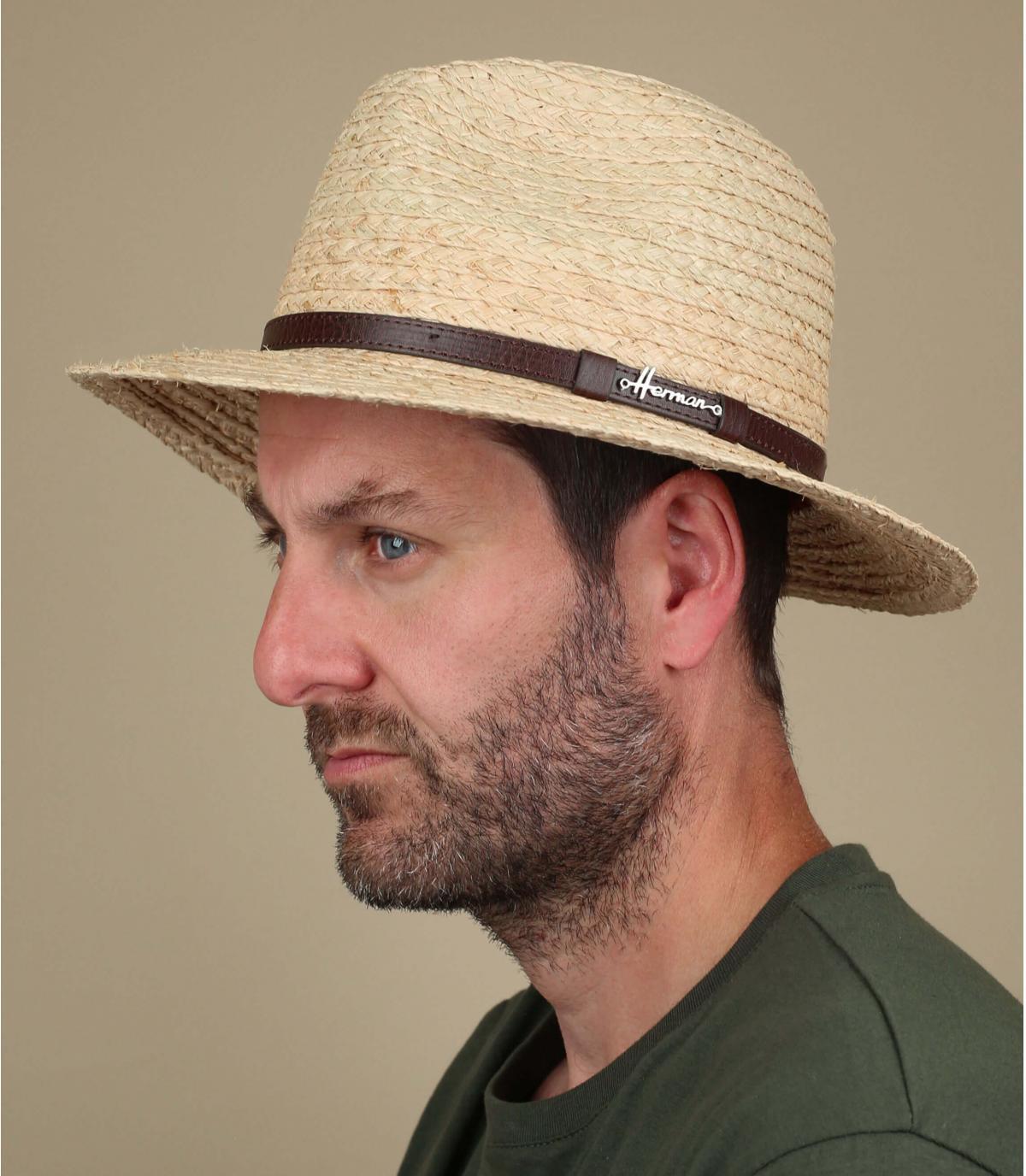 Sombrero paja ancho