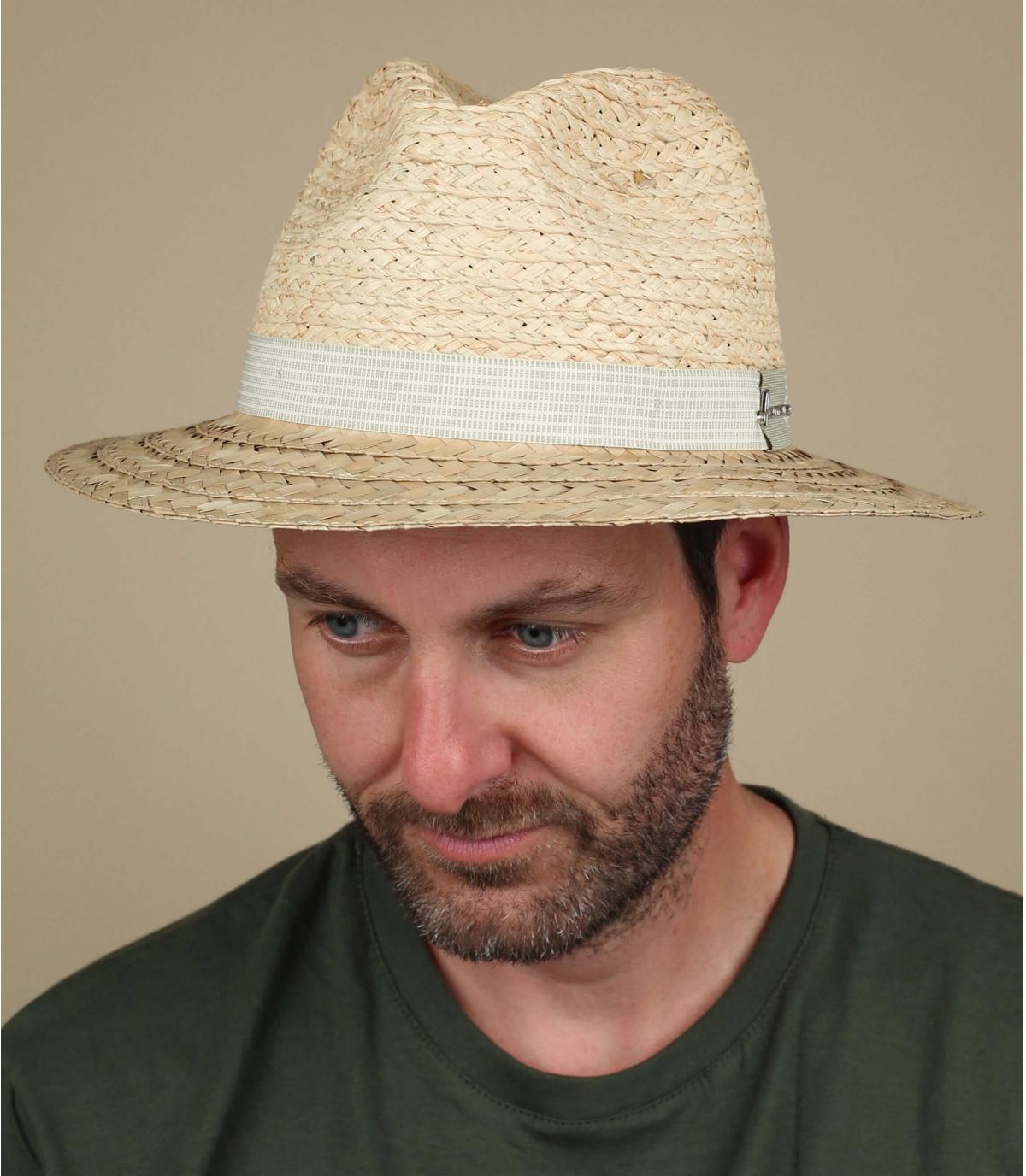 sombrero paja bicolor