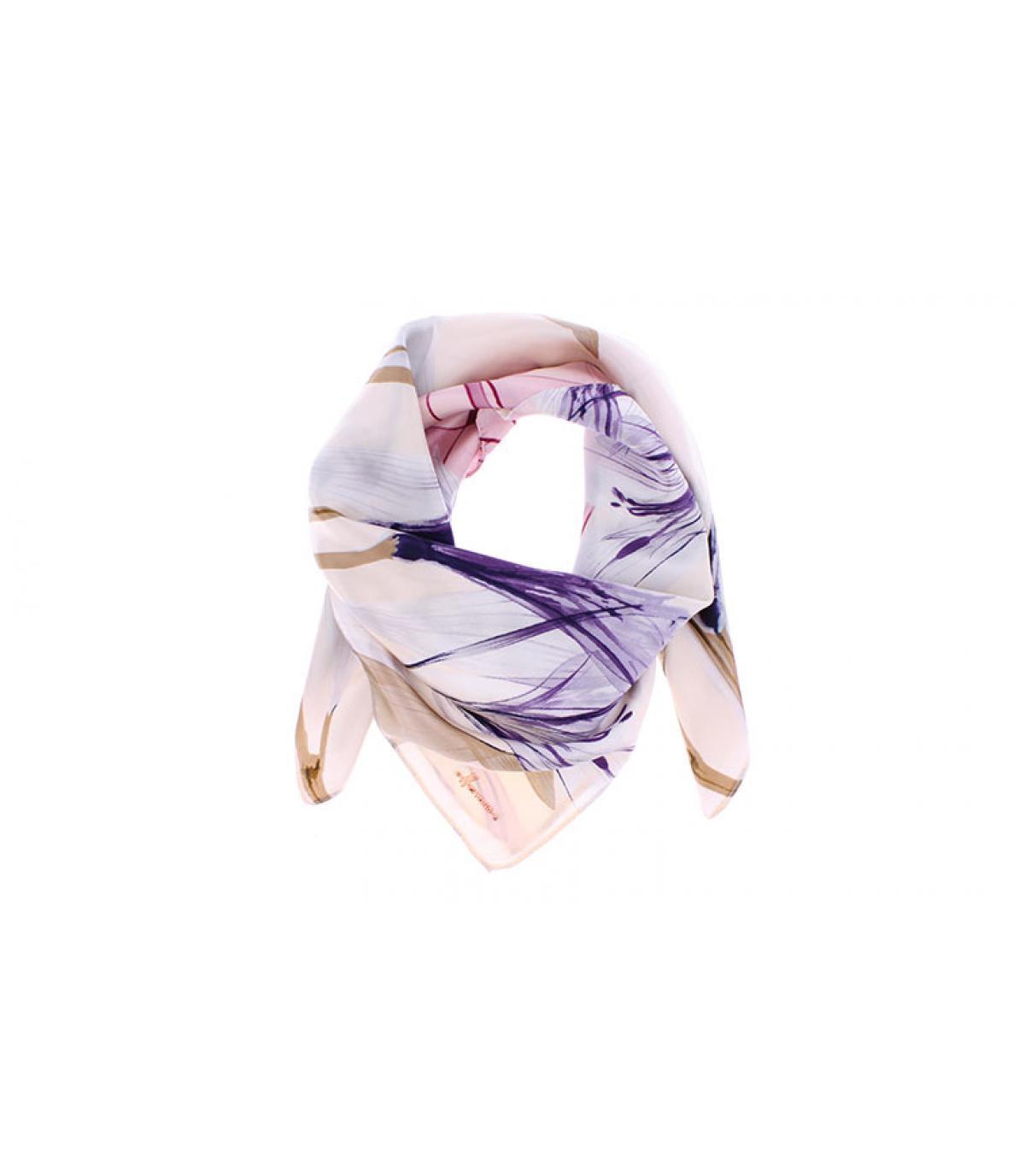 Pañuelo cuadrado estampado rosa