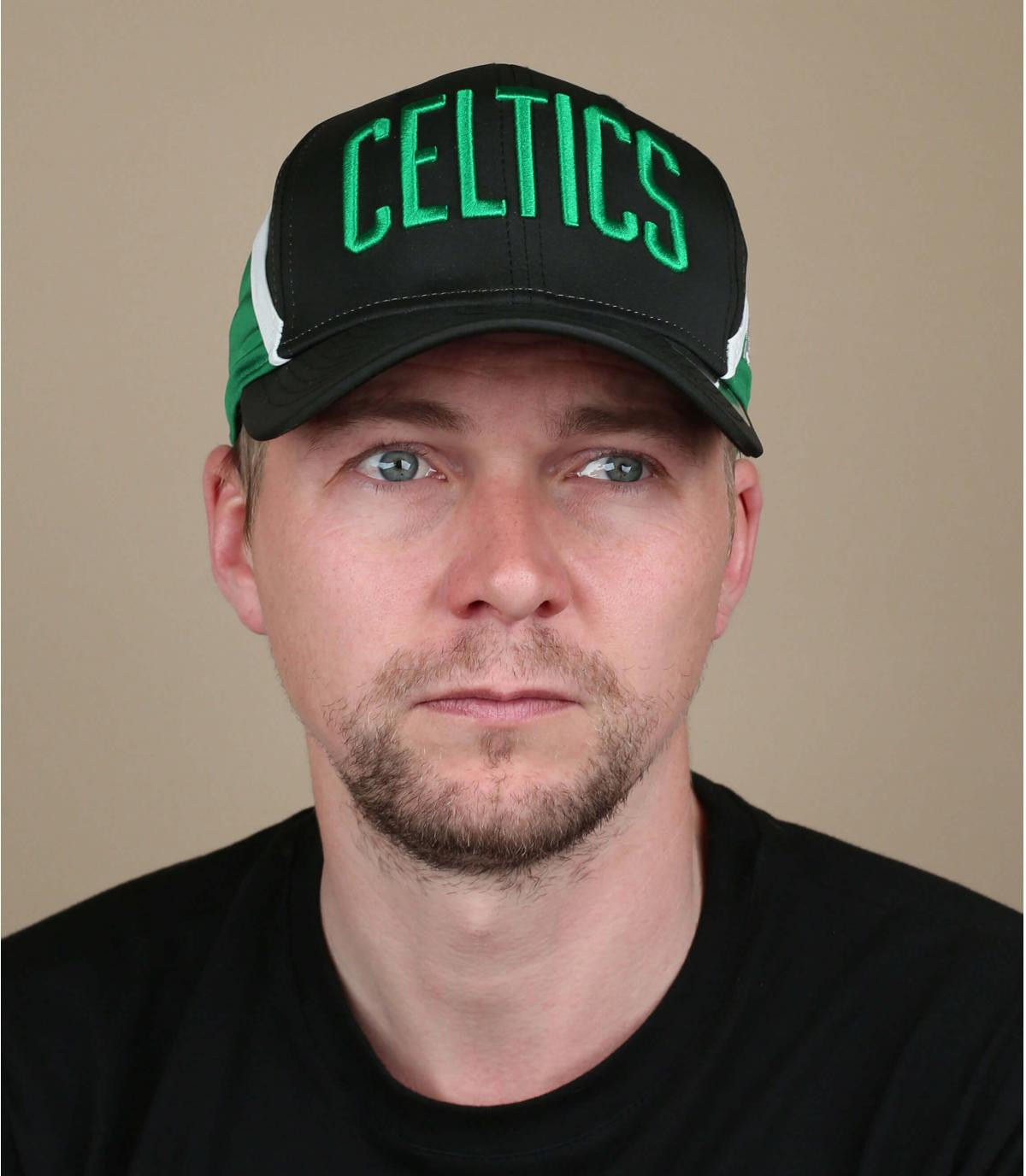 gorra Celtics negro verde