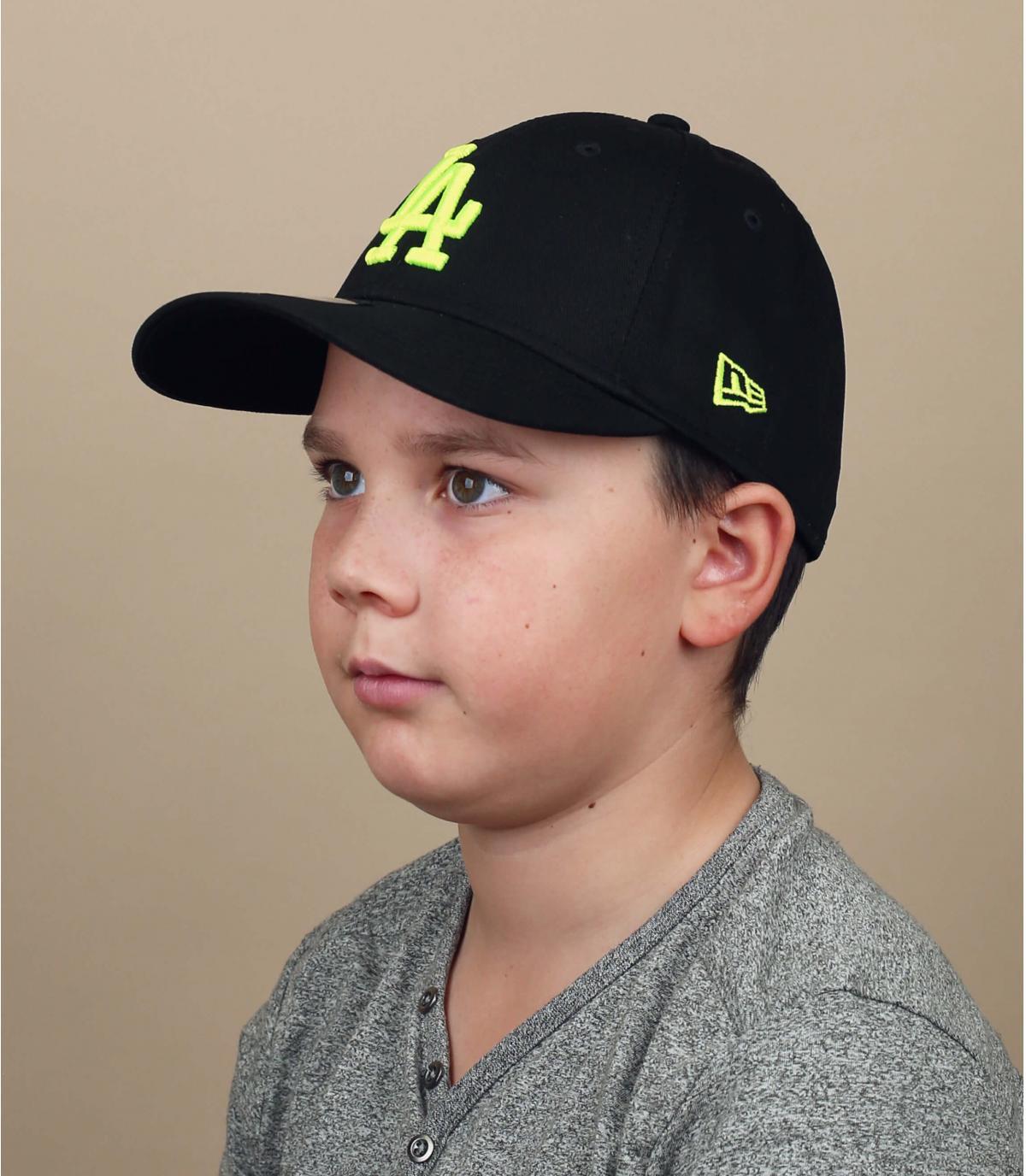 gorra infantil LA negro amarillo