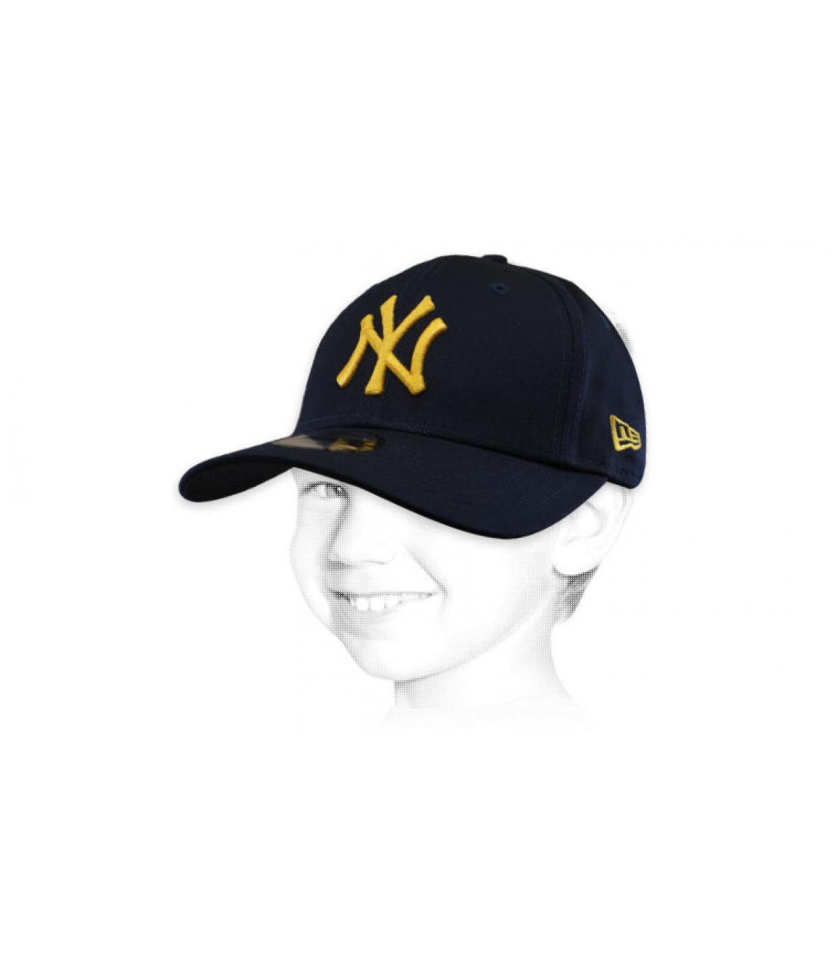 gorra NY niño azul