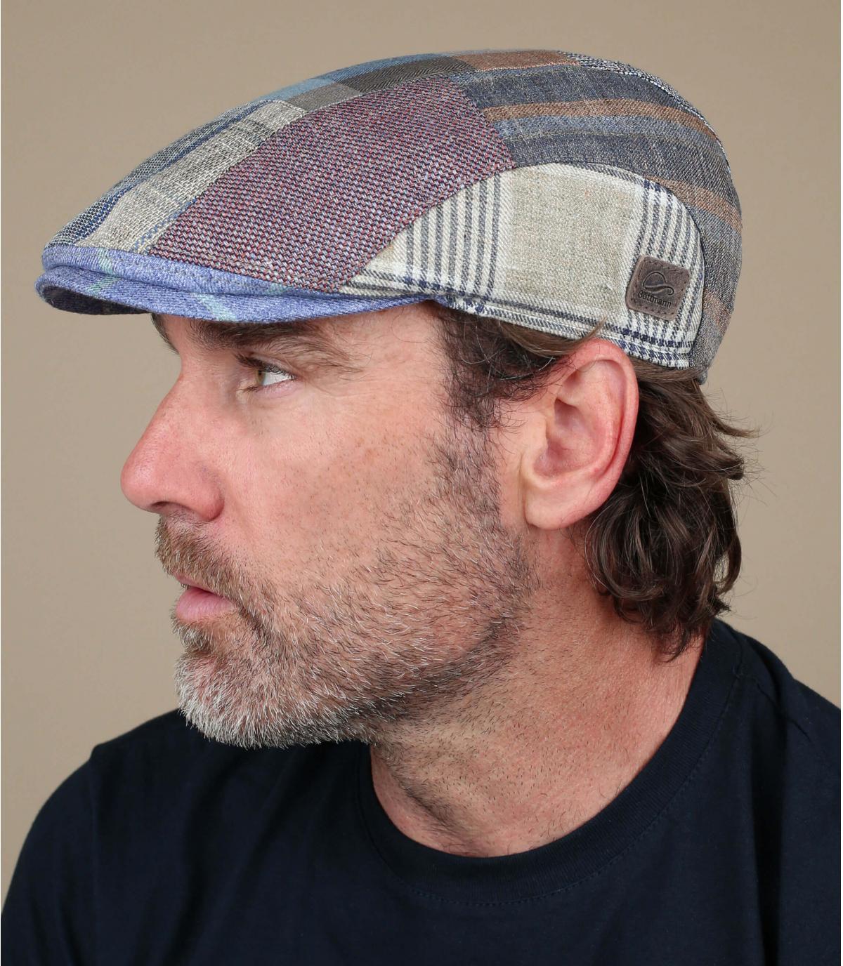 gorra patchwork lino