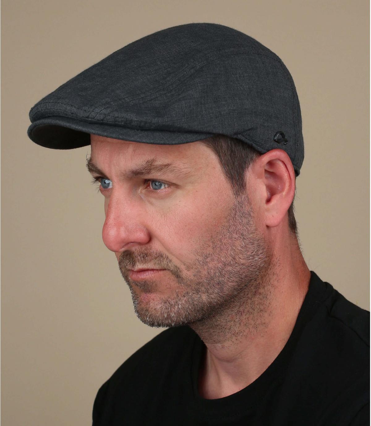 gorra gris lino