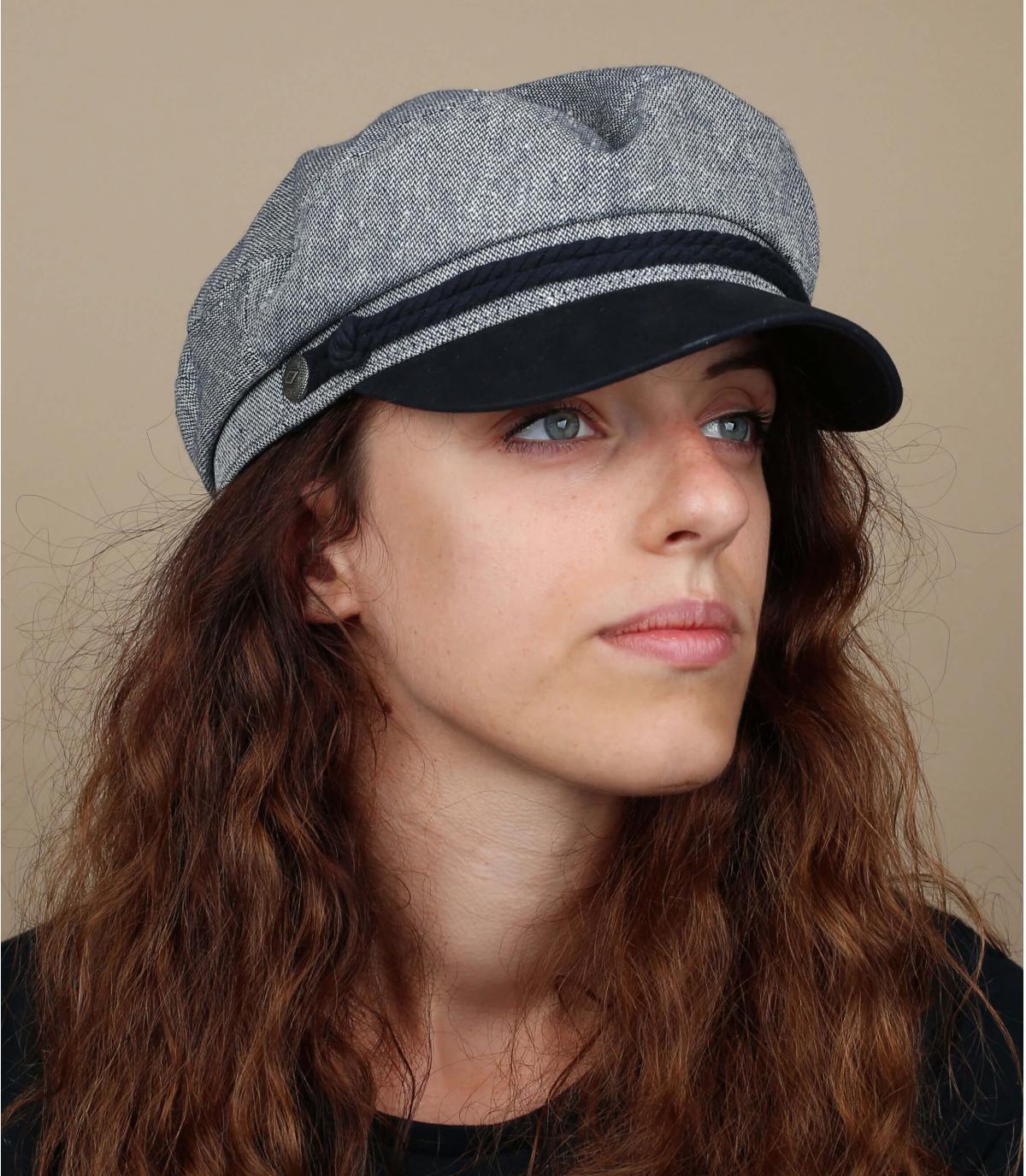 gorra marinera azul gris