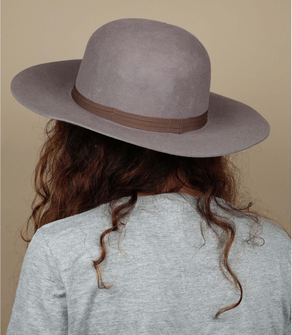 Sombrero Brixton mujer beige