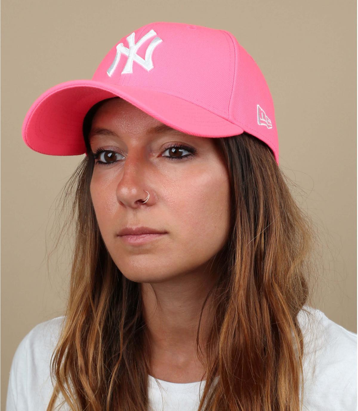 gorra NY rosa