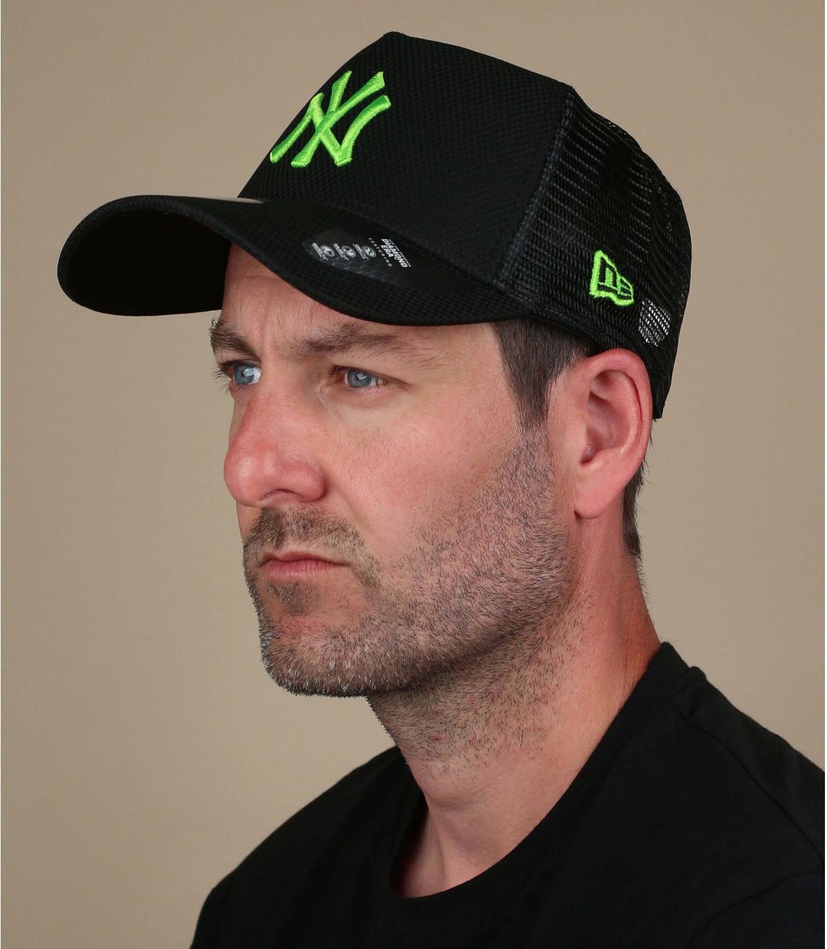 trucker NY negro verde