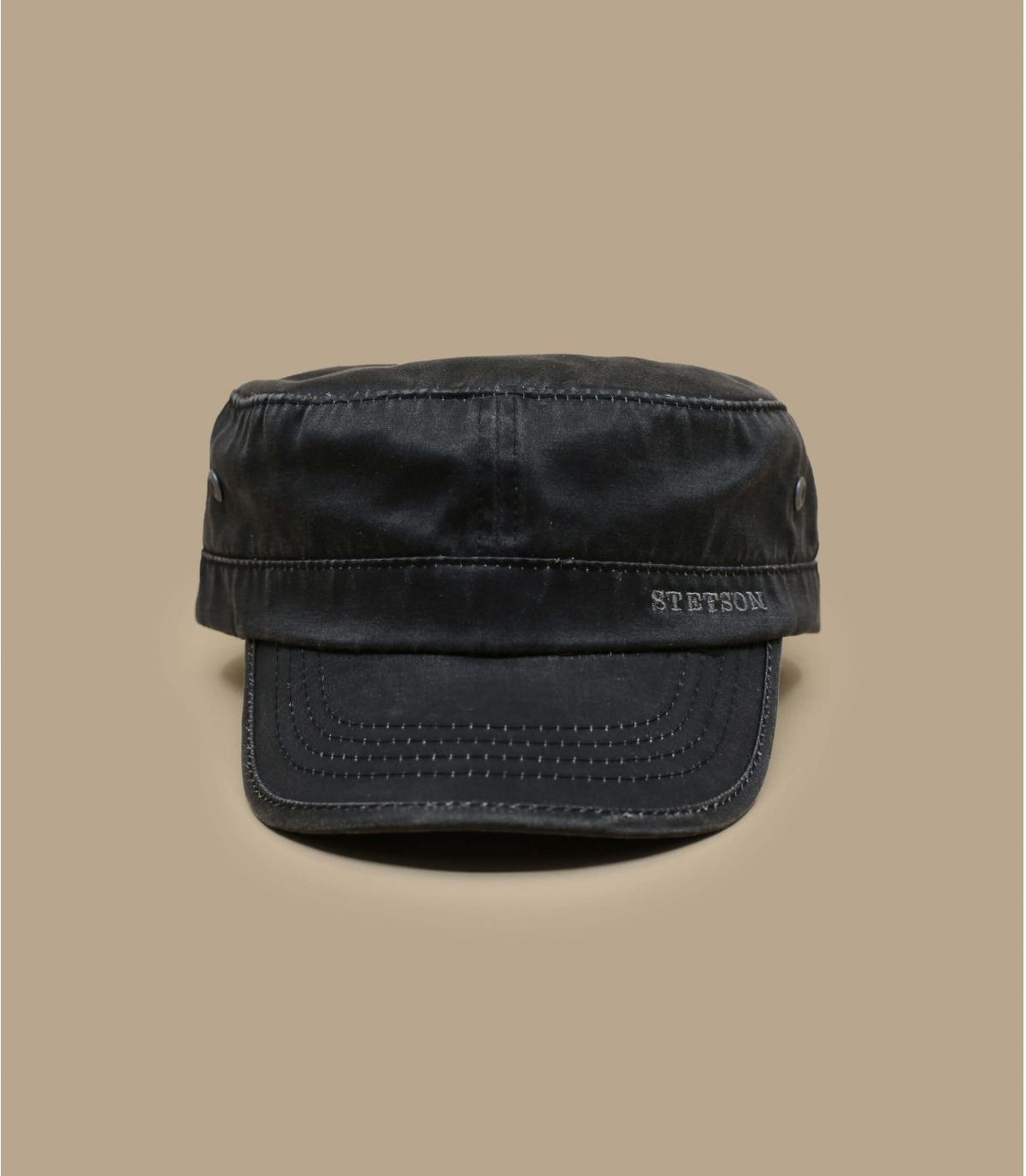 c5995744ef391 Gorra Stetson negro. Detalles Datto negro poly coton imagen 2 ...