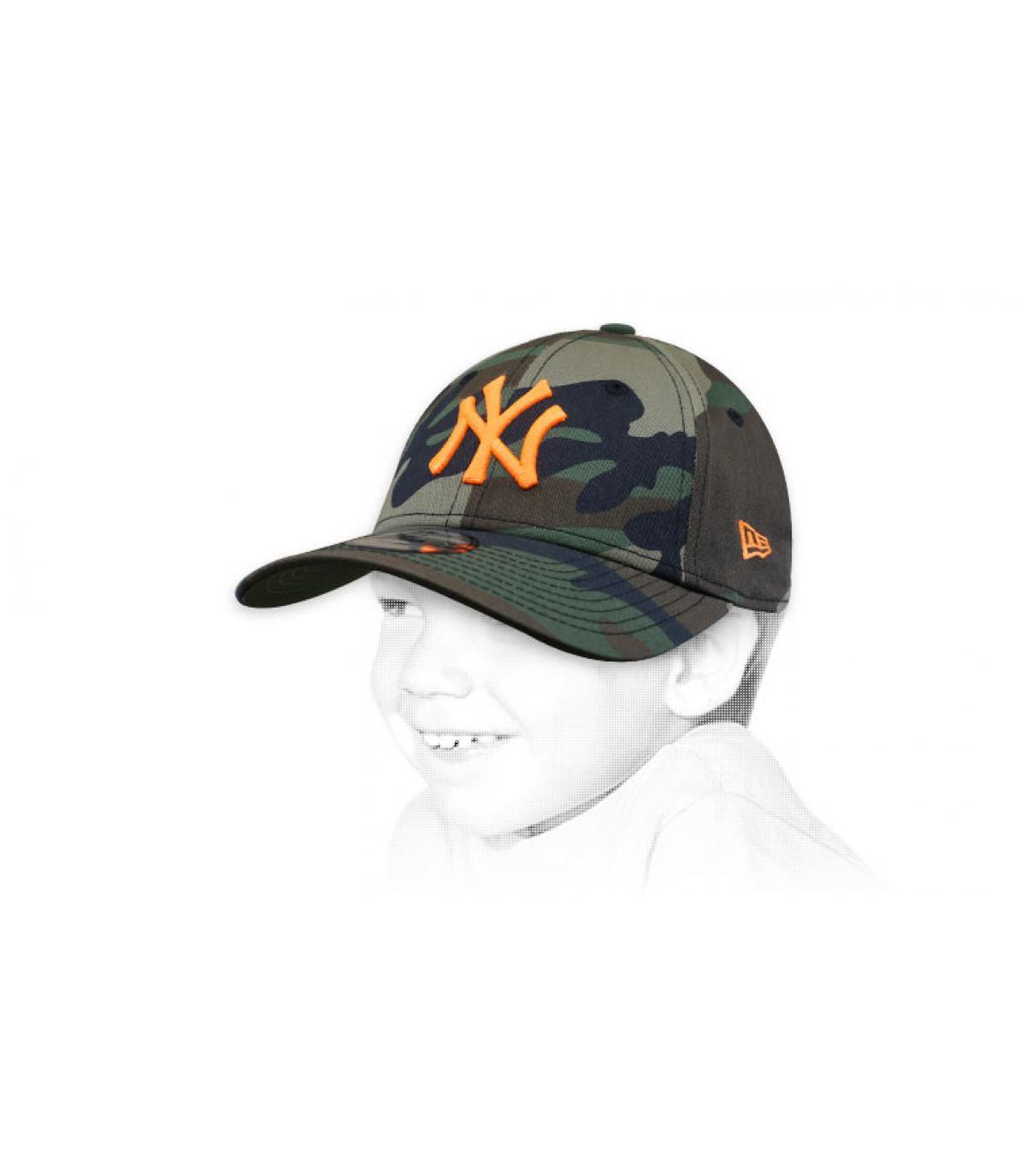 gorra niño NY camuflaje