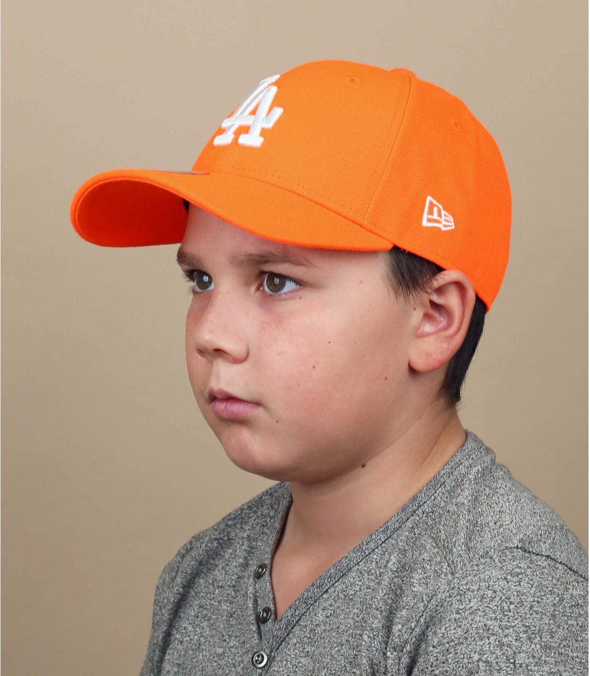 gorra niño LA naranja