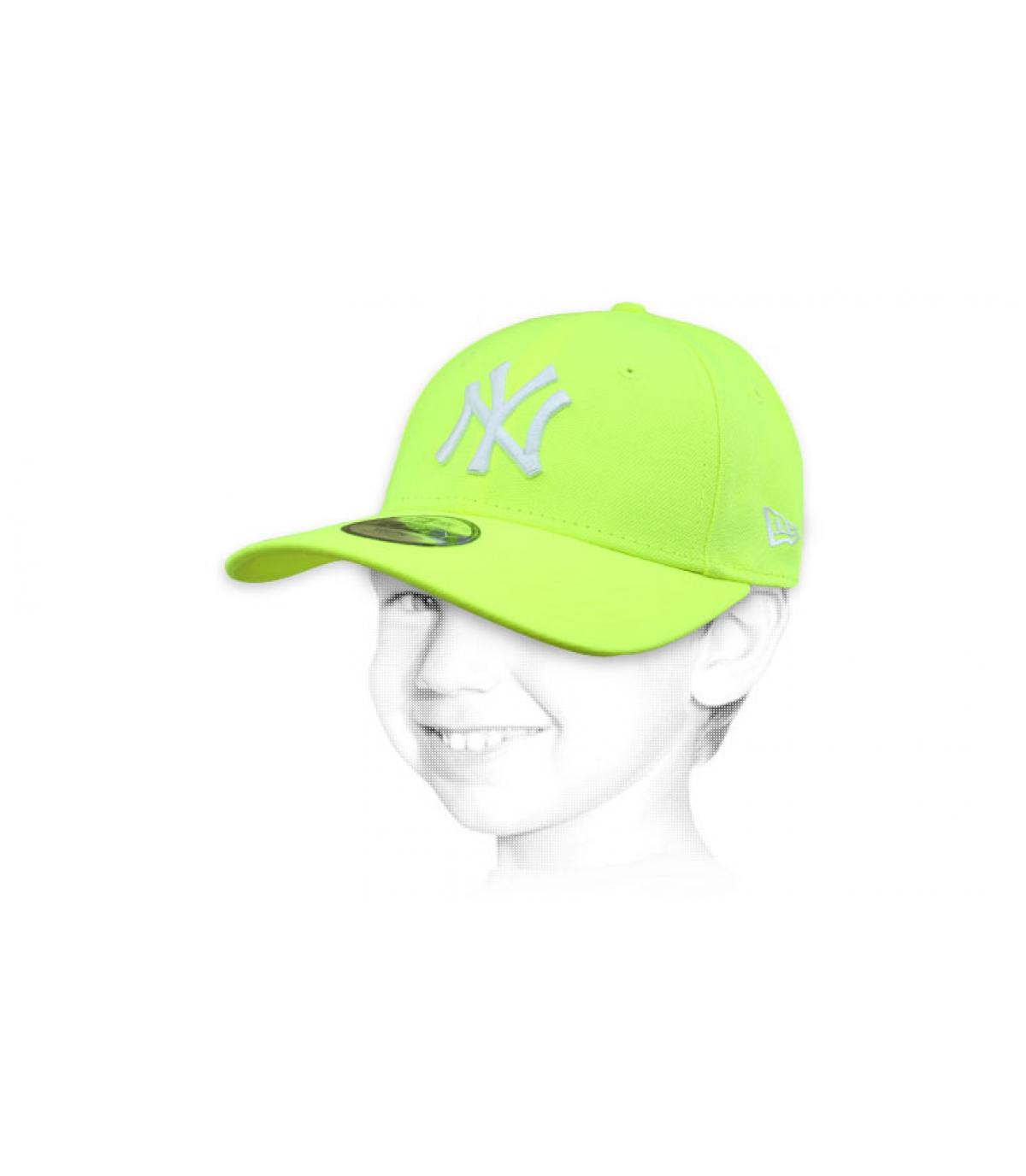 gorra niño NY amarillo