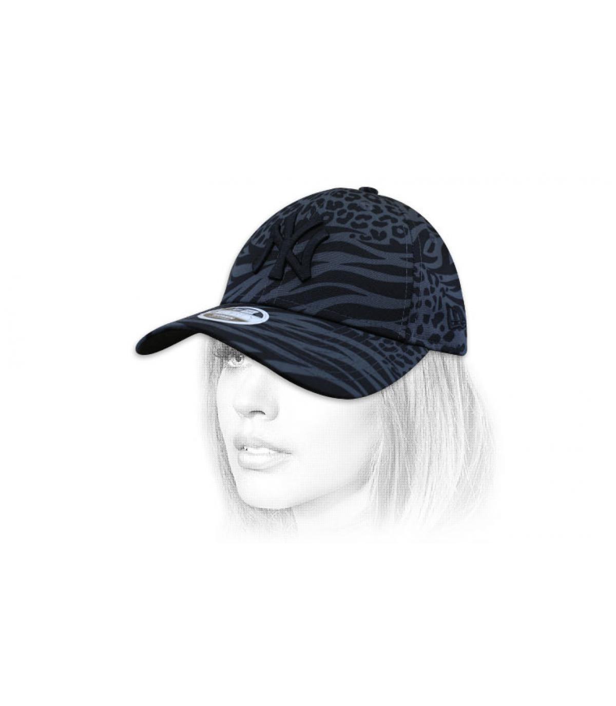 gorra mujer NY estampado