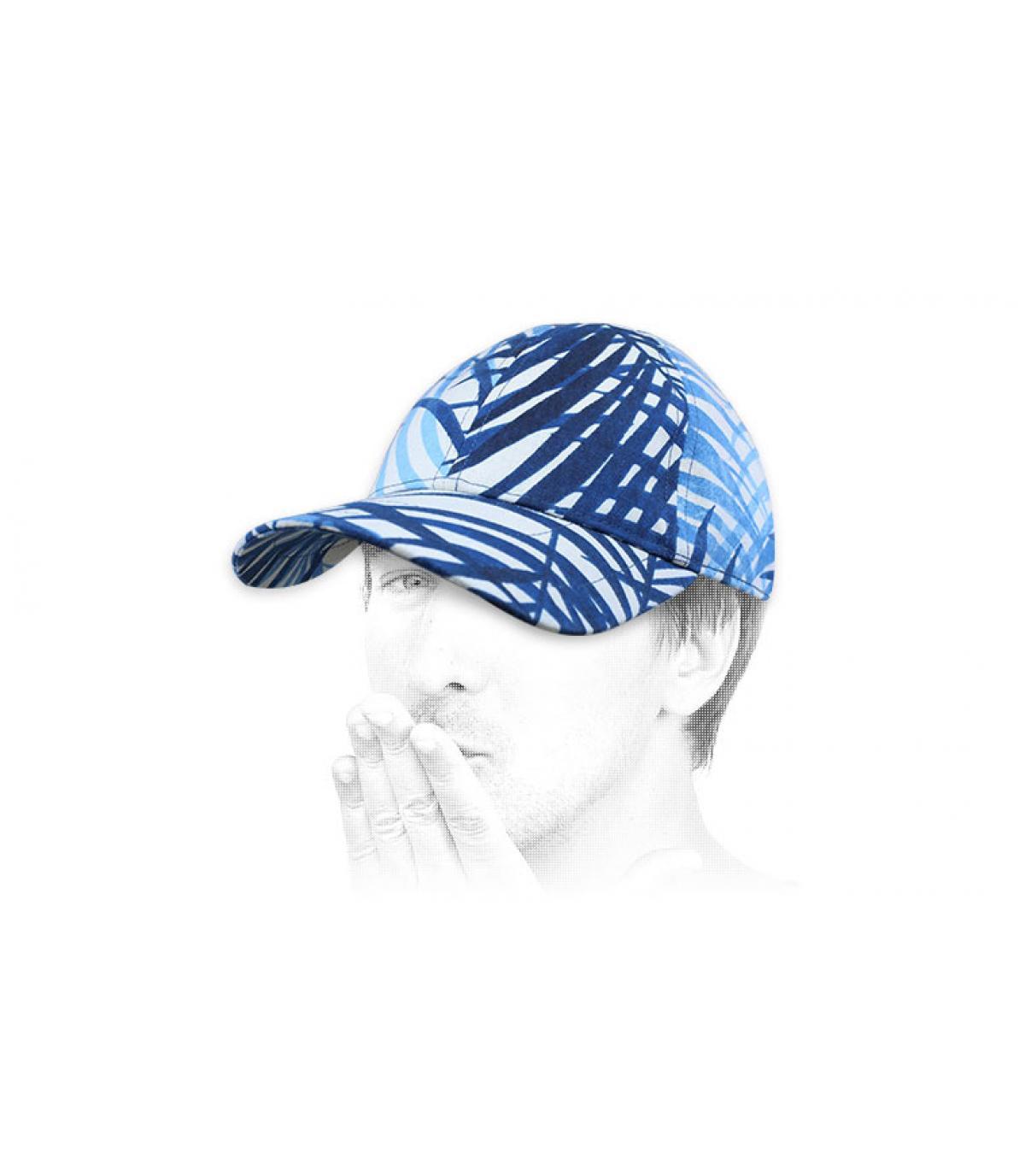 gorra Chapoté azul blanco