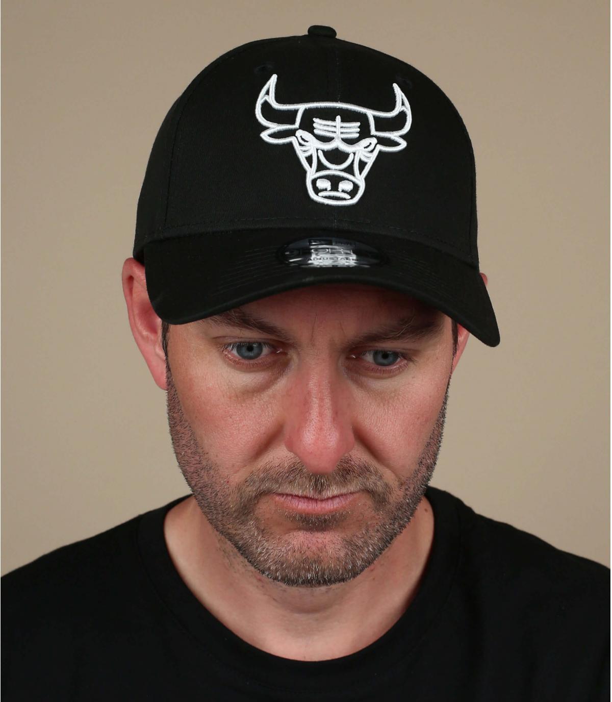 gorra Bulls negro blanco