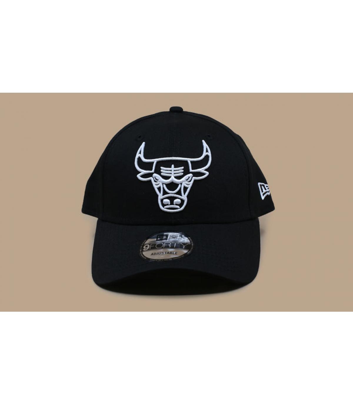 Detalles NBA League Ess 940 Bulls black white imagen 3