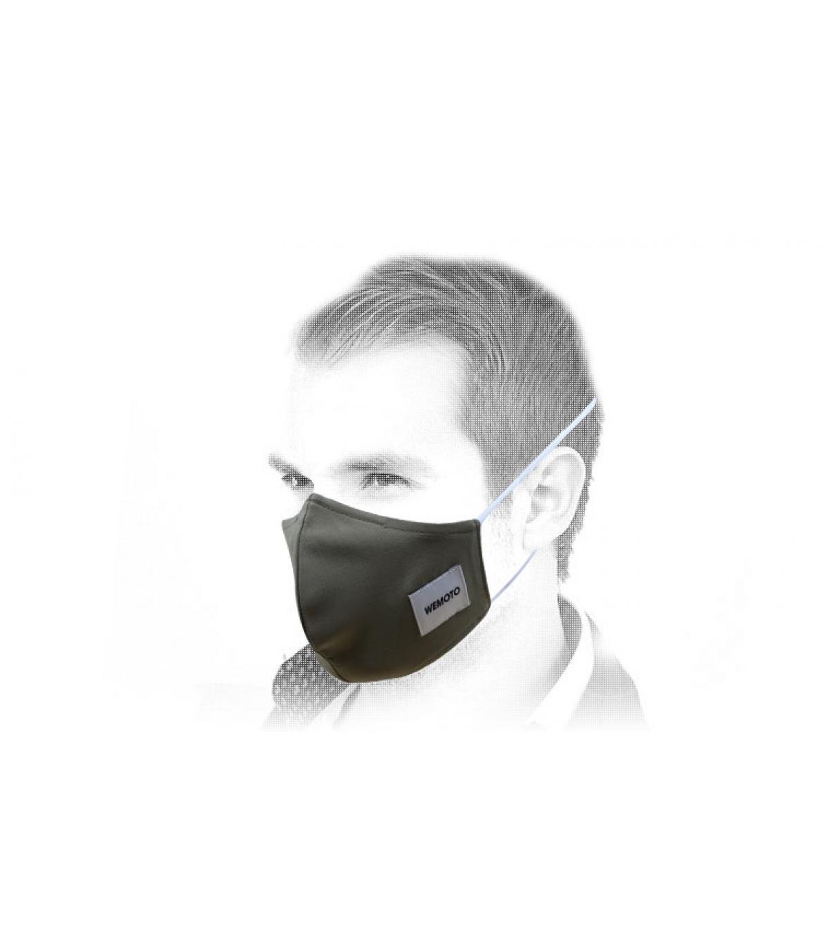 máscara verde Wemoto