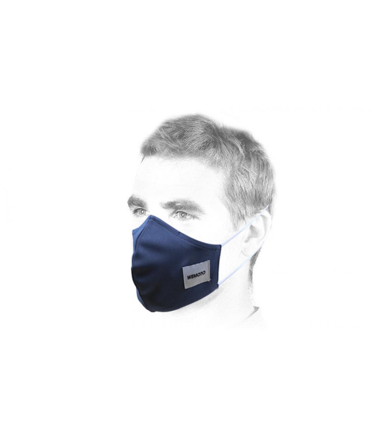 máscara azul Covid